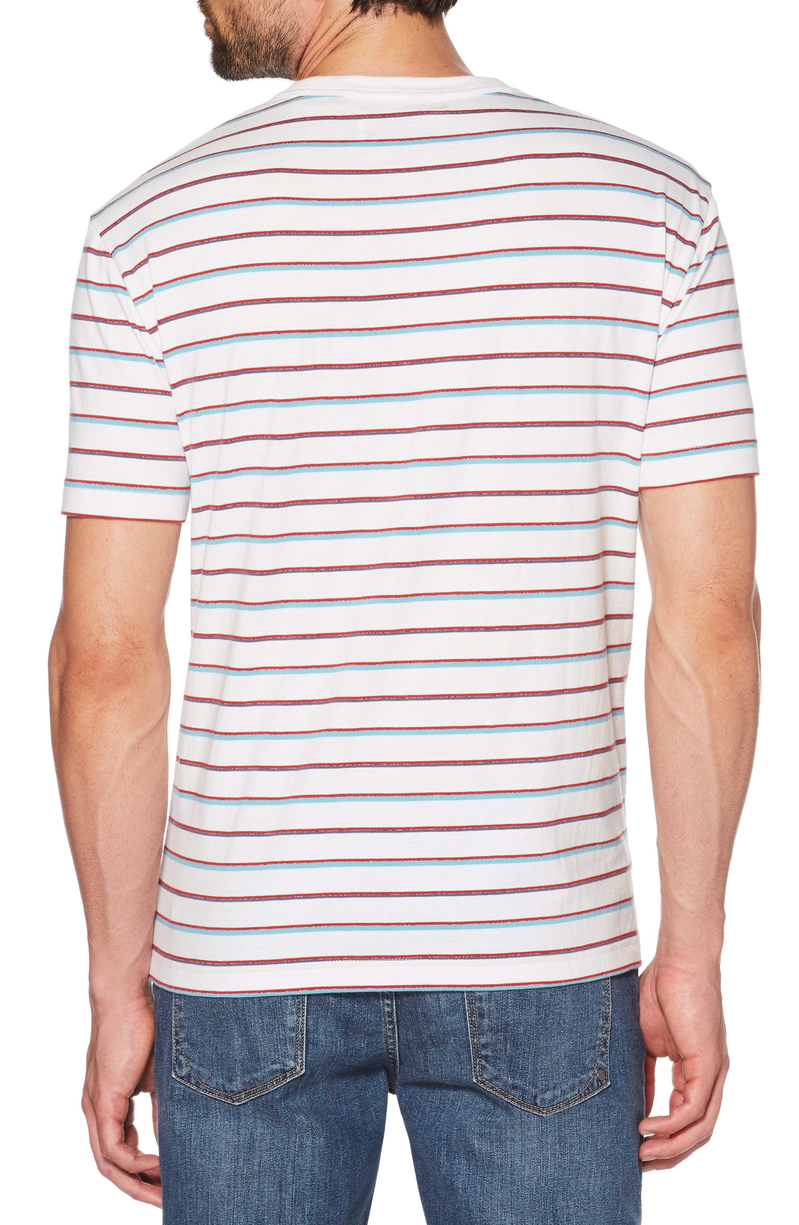 Striped Jaspé T-Shirt,                             Alternate thumbnail 2, color,                             BRIGHT WHITE