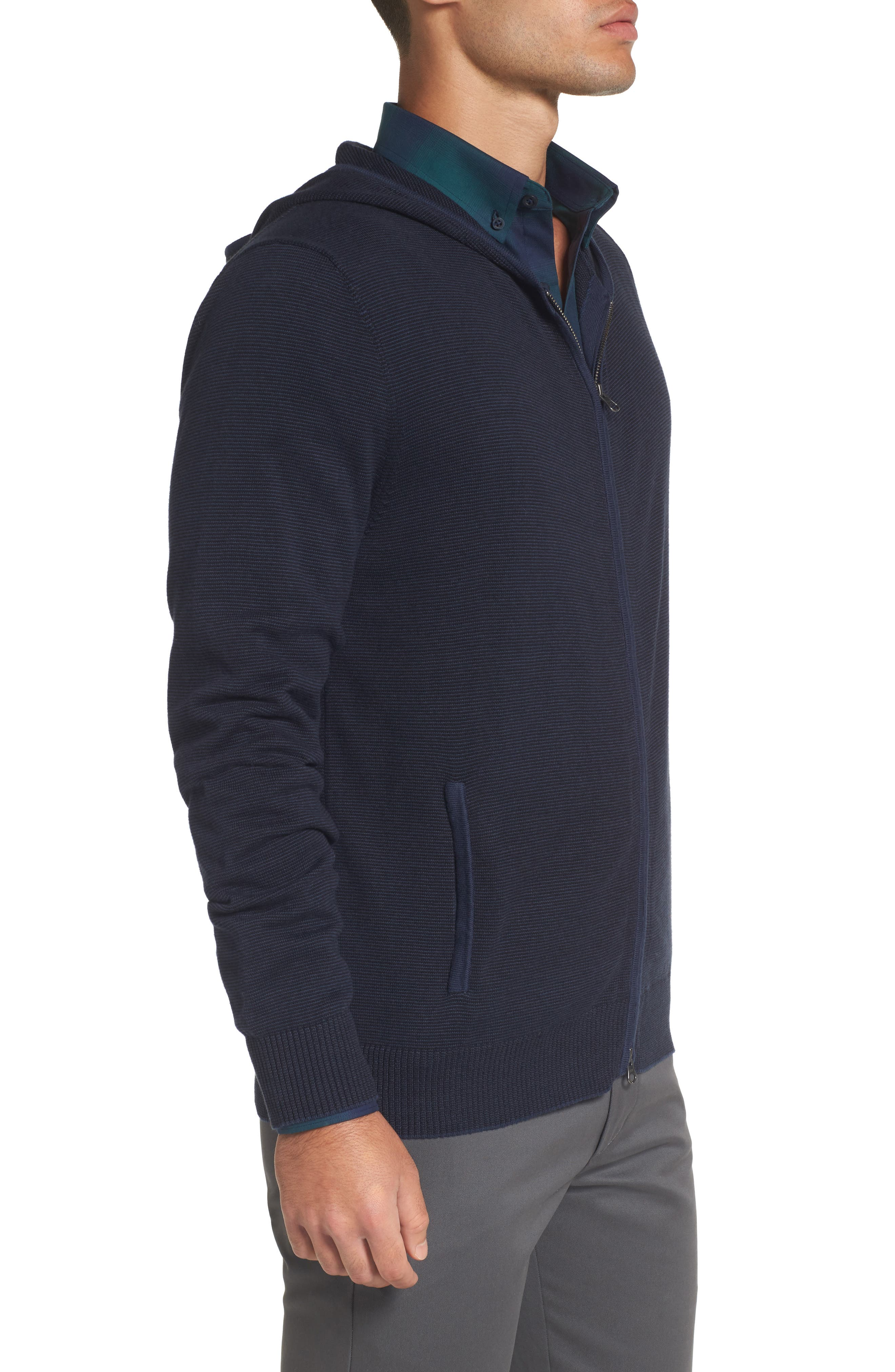 Zip Front Hooded Sweater,                             Alternate thumbnail 9, color,