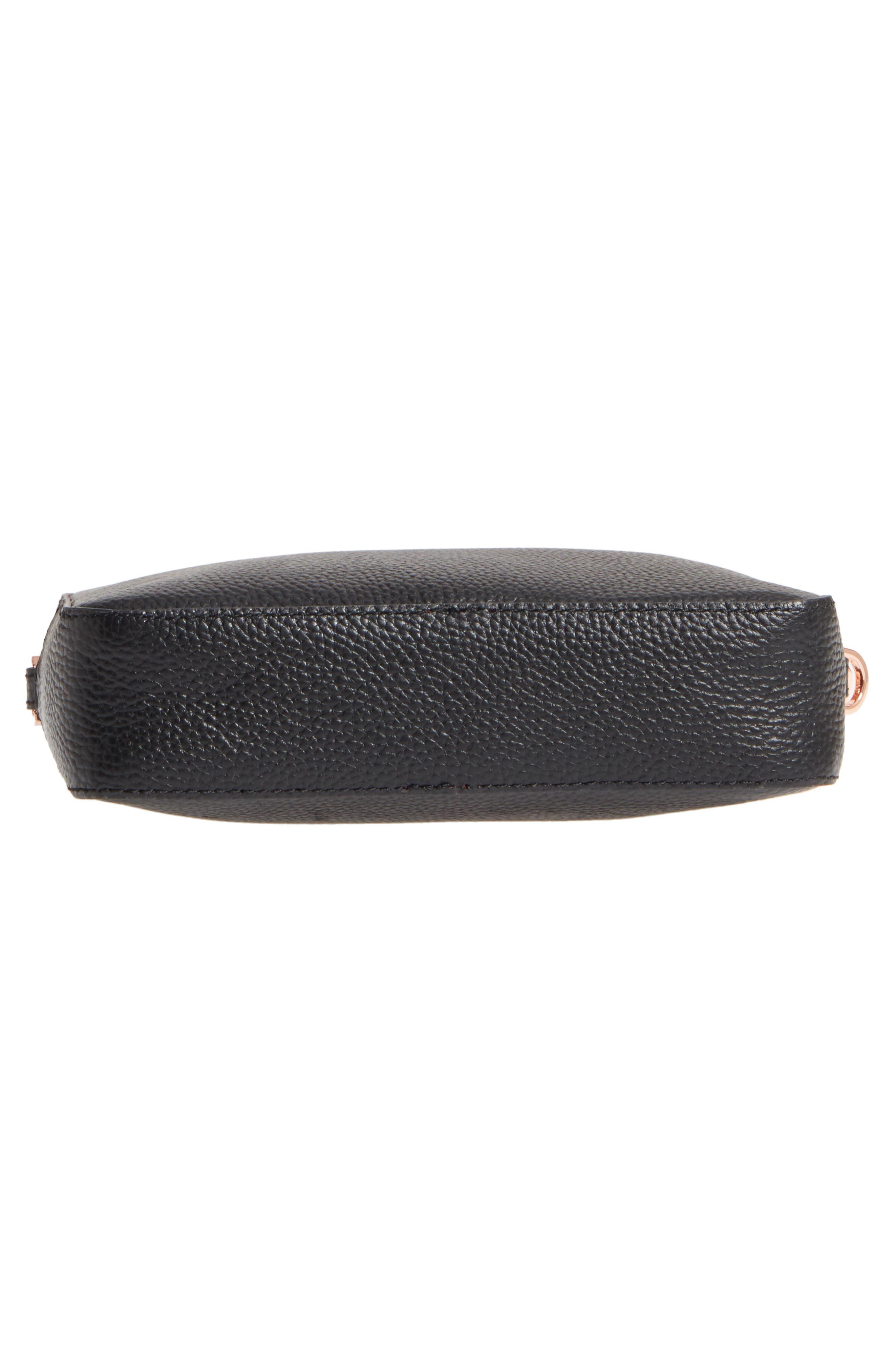 Susi Leather Crossbody Bag,                             Alternate thumbnail 6, color,                             001