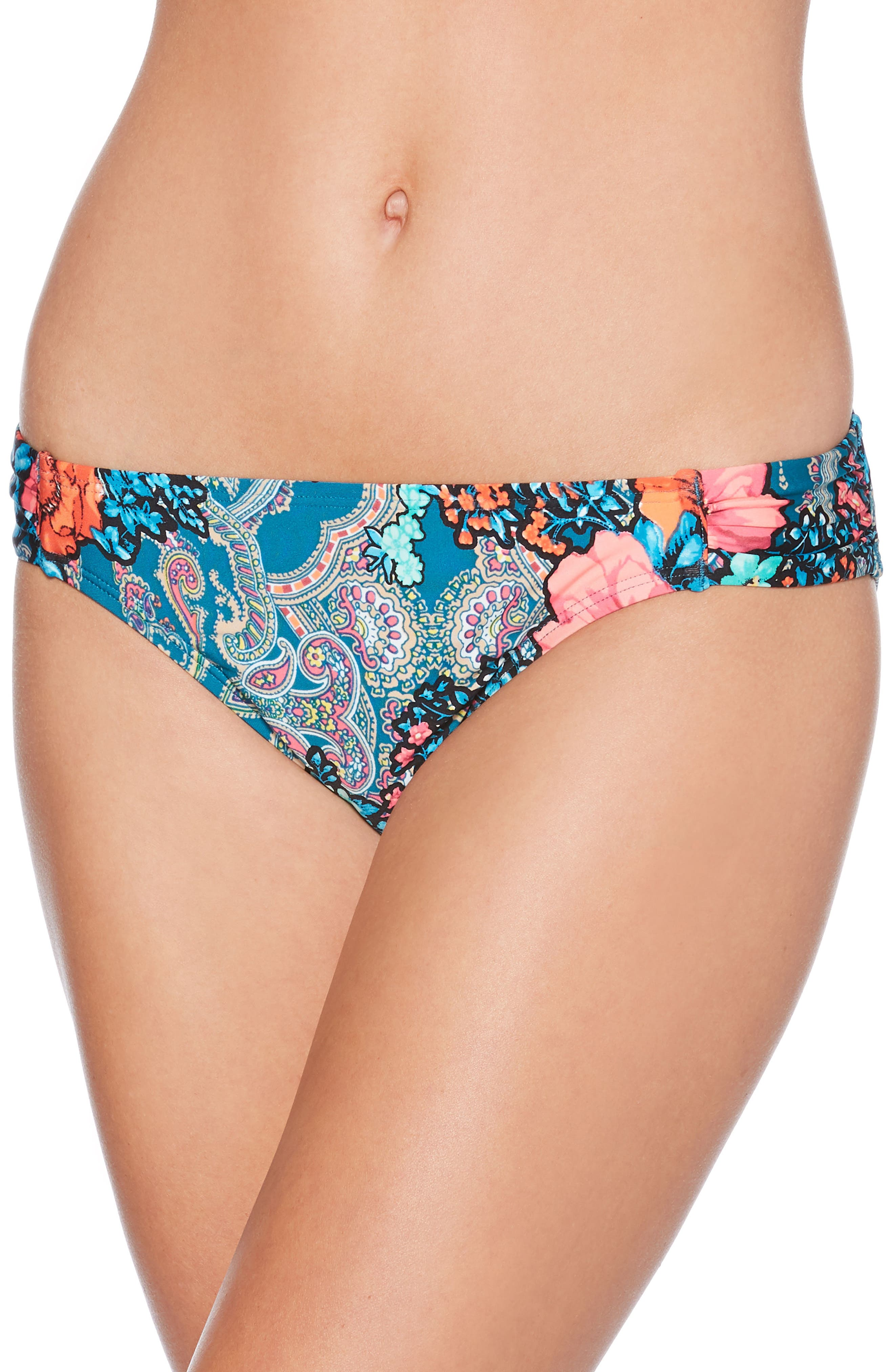 Floral Paisley Hipster Bikini Bottoms,                         Main,                         color, 440