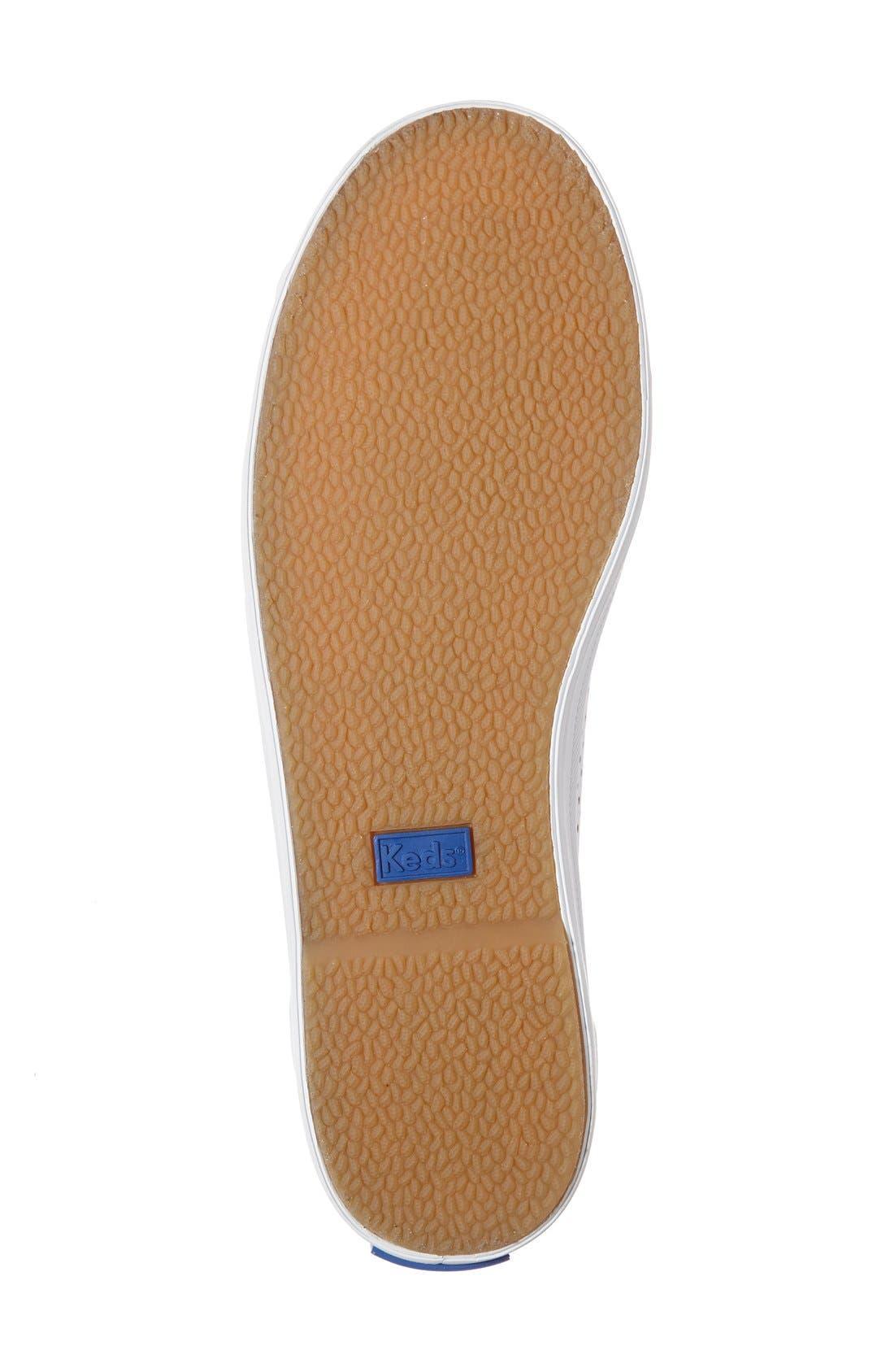 KEDS<SUP>®</SUP>,                             'Kickstart' Perforated Sneaker,                             Alternate thumbnail 4, color,                             100