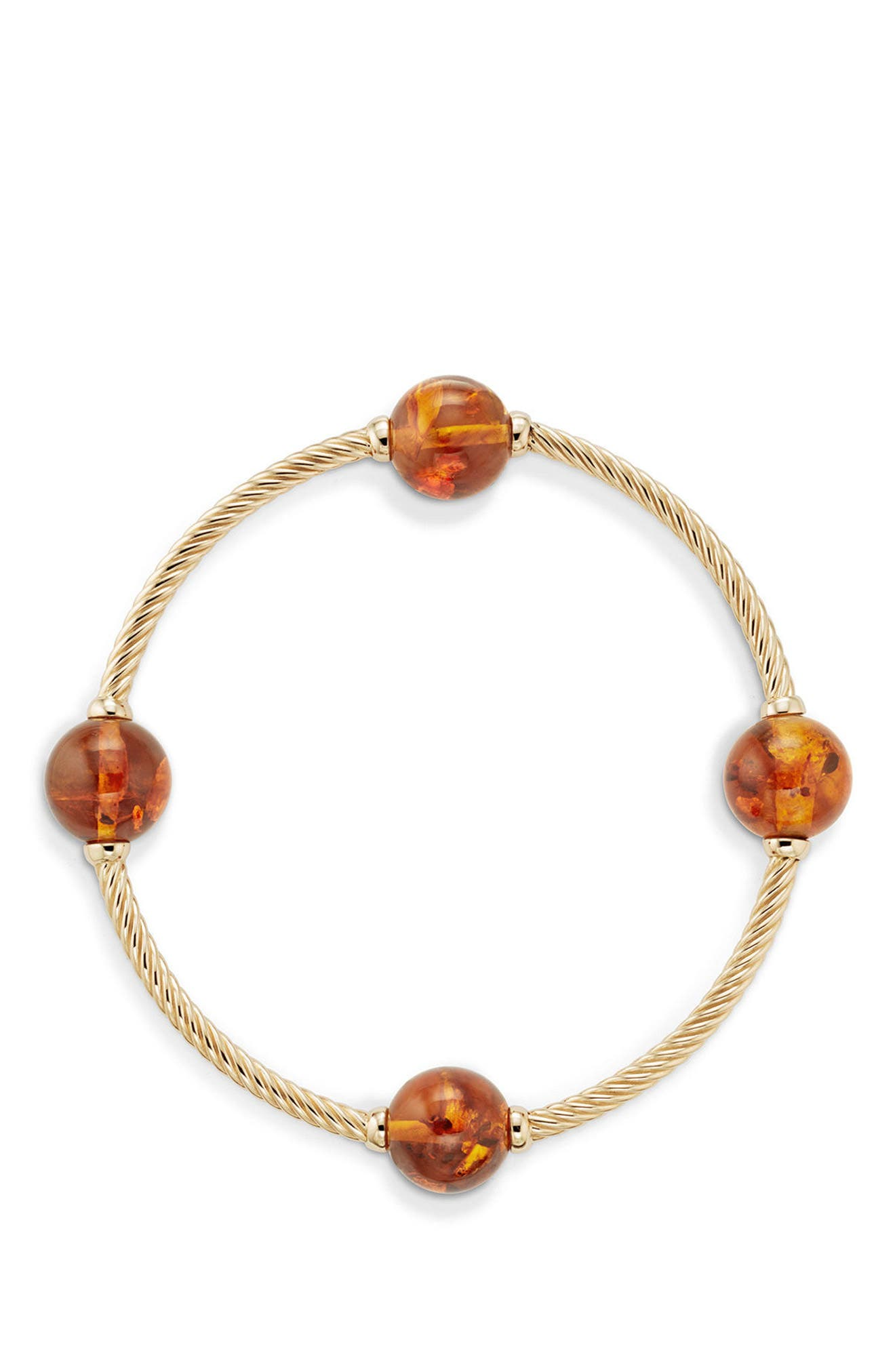 Mustique Four Station Bangle Bracelet in 18K Gold,                             Alternate thumbnail 2, color,                             YELLOW GOLD/ AMBER