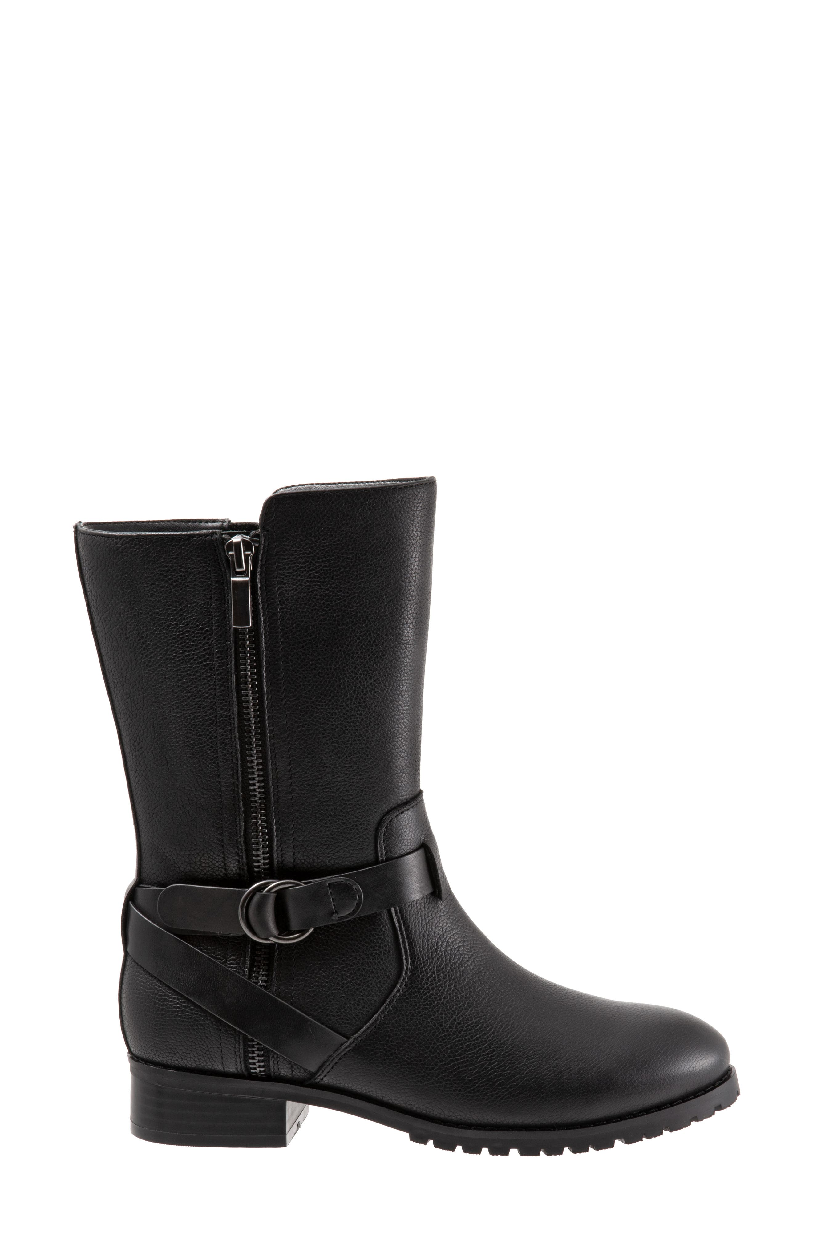 Marlowe Boot,                             Alternate thumbnail 3, color,                             BLACK LEATHER