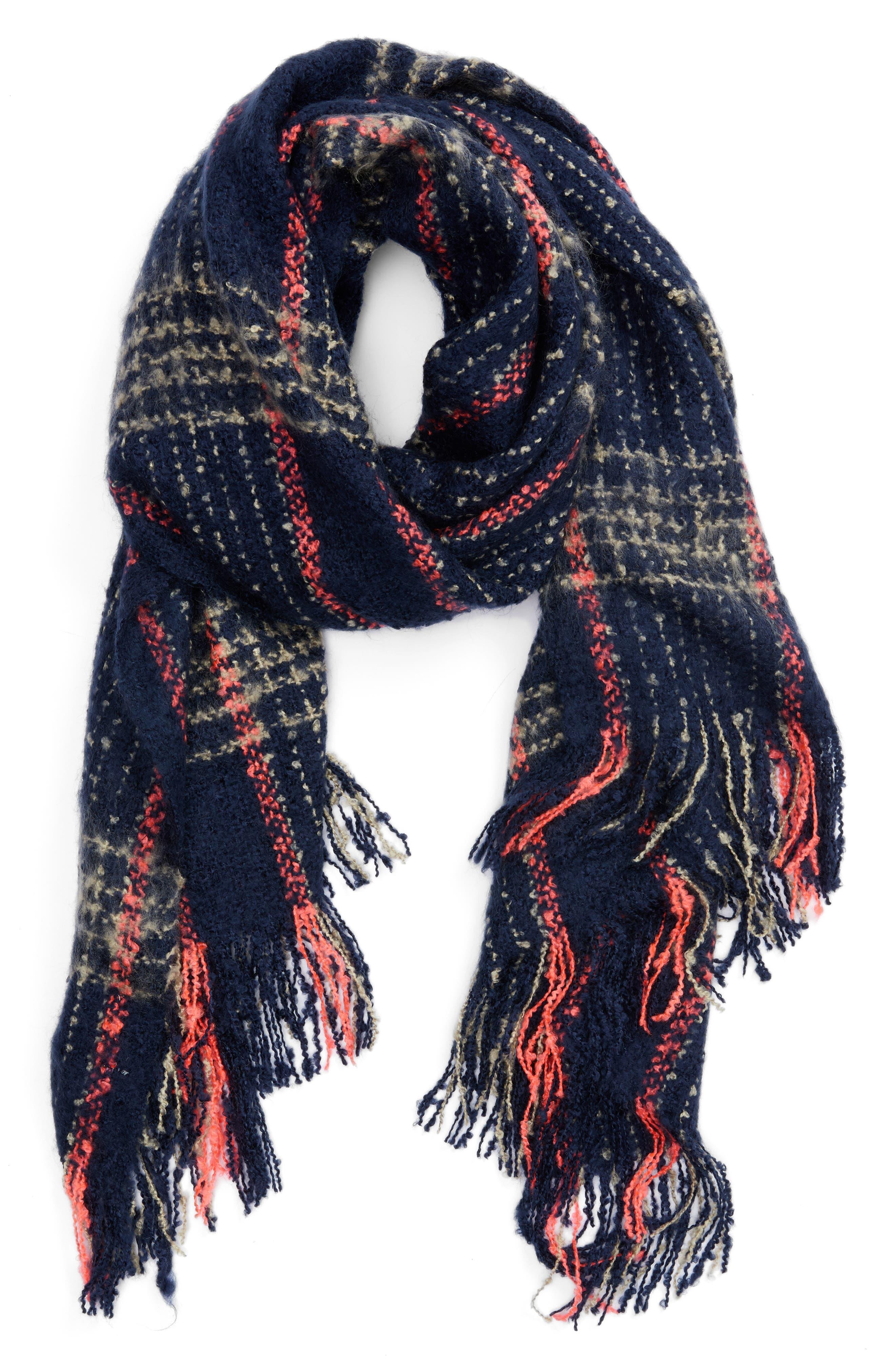 Speckled Check Blanket Scarf,                             Alternate thumbnail 2, color,                             400