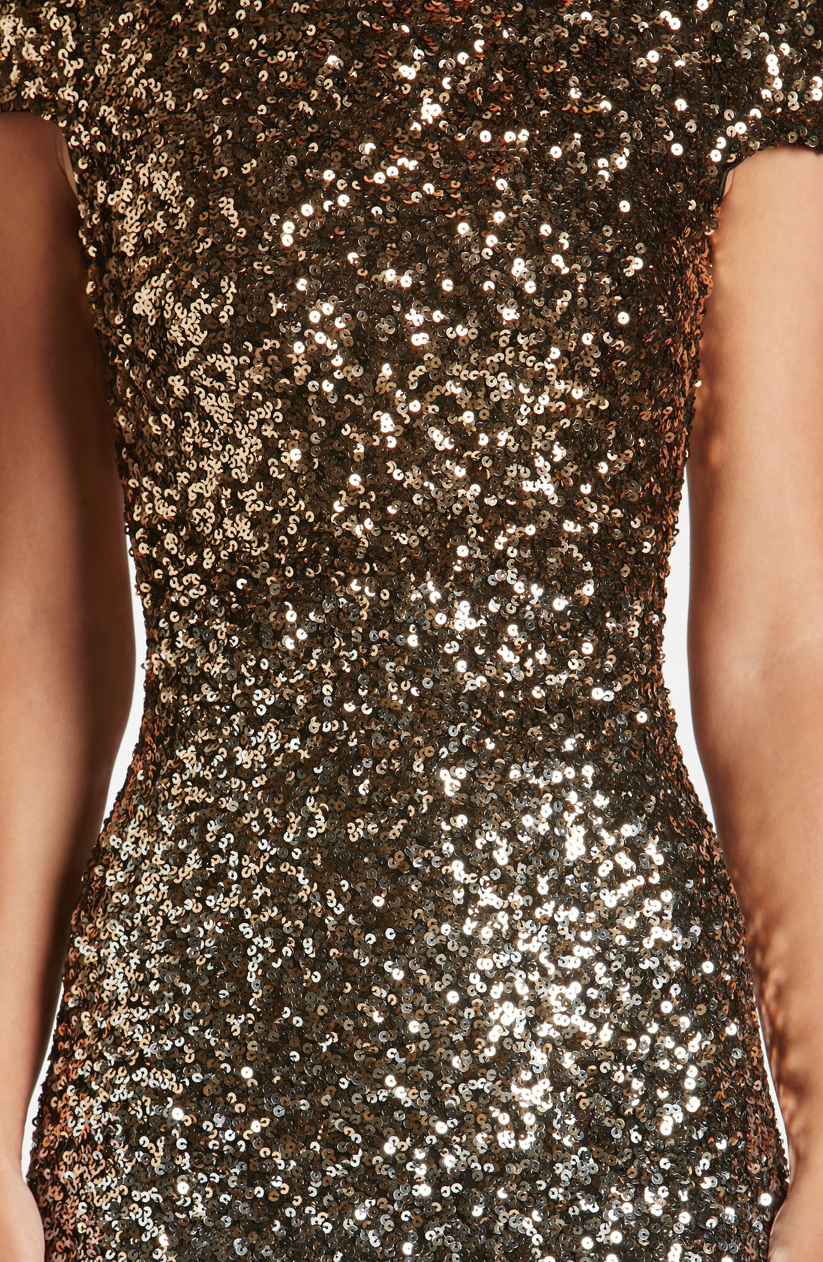 Marcella Ombré Sequin Body-Con Dress,                             Alternate thumbnail 11, color,