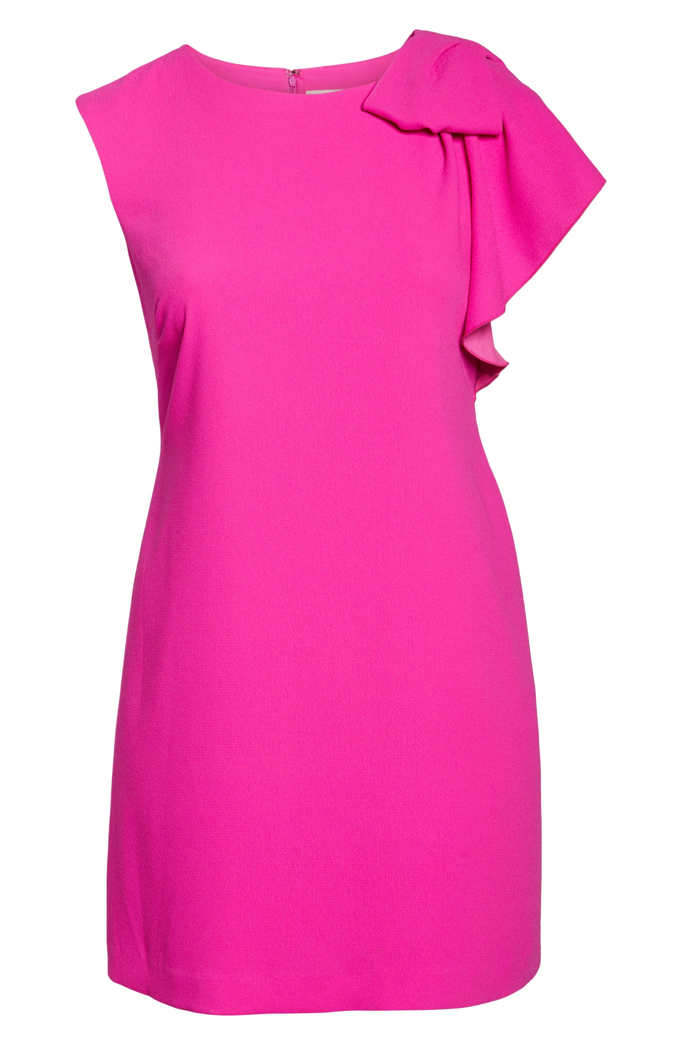 Shoulder Bow Shift Dress,                             Alternate thumbnail 6, color,                             650