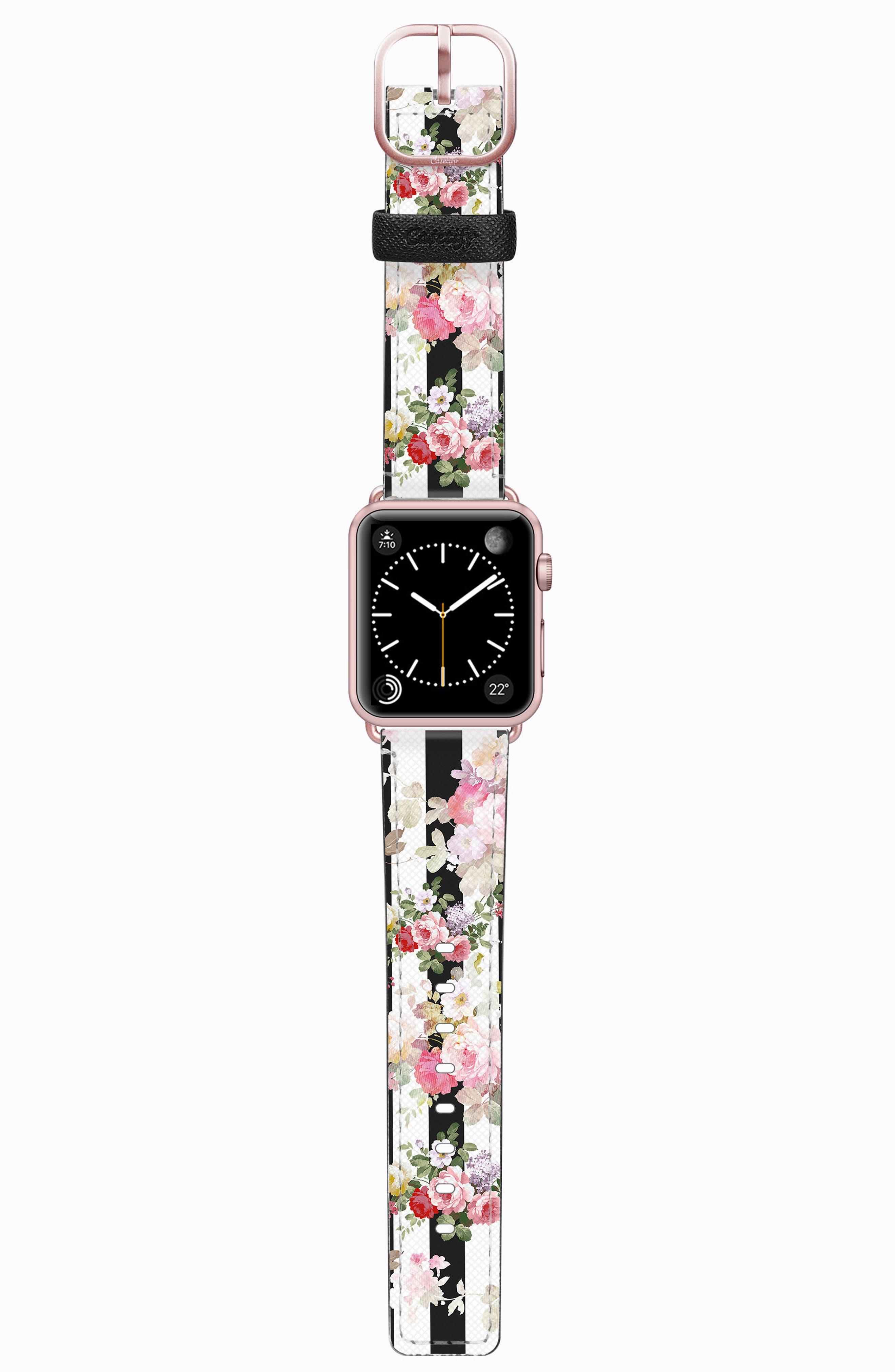 Saffiano Faux Leather Apple Watch Strap,                             Main thumbnail 11, color,