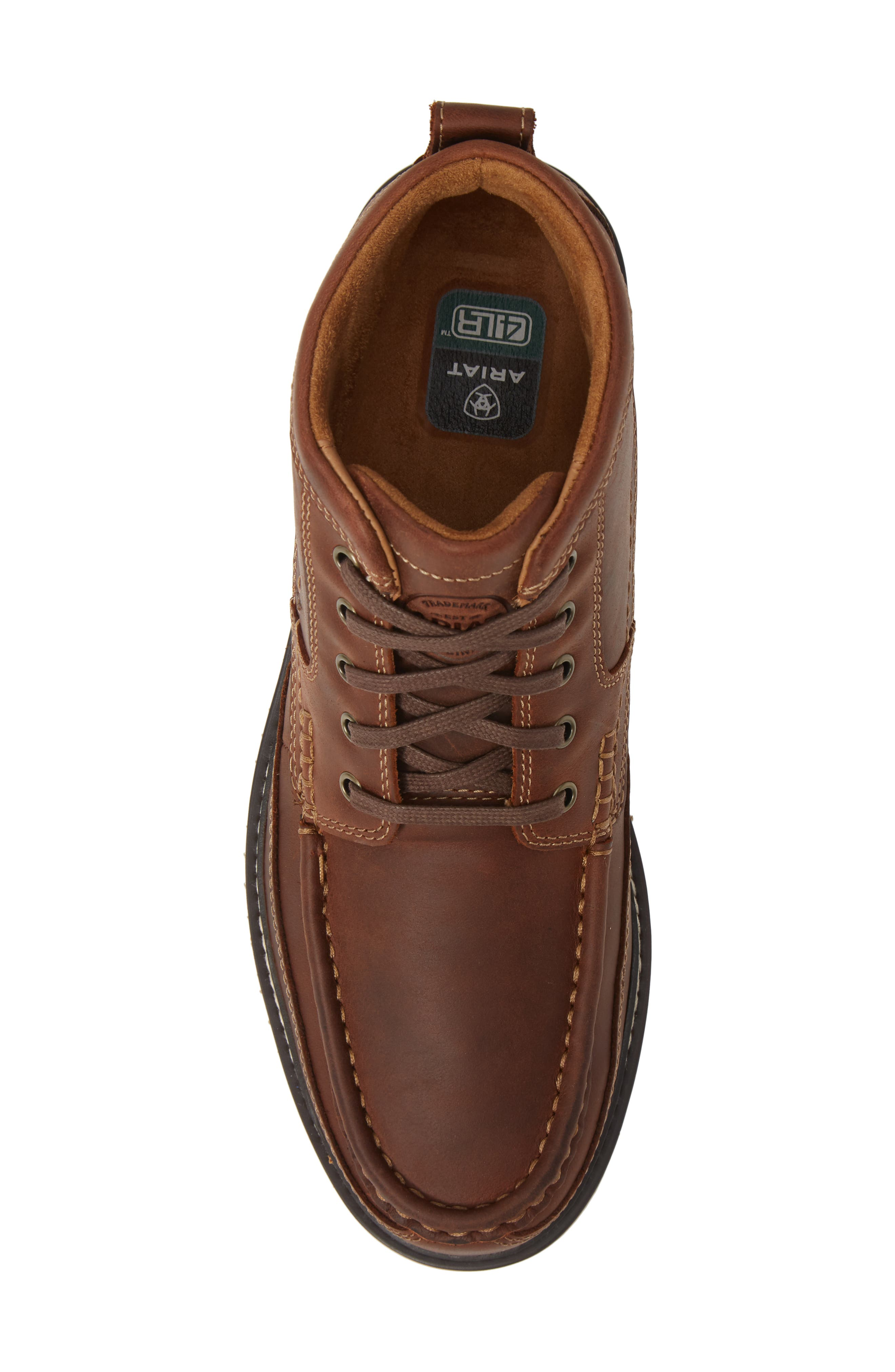 'Lookout' Moc Toe Boot,                             Alternate thumbnail 5, color,                             FOOTHILL BROWN LEATHER