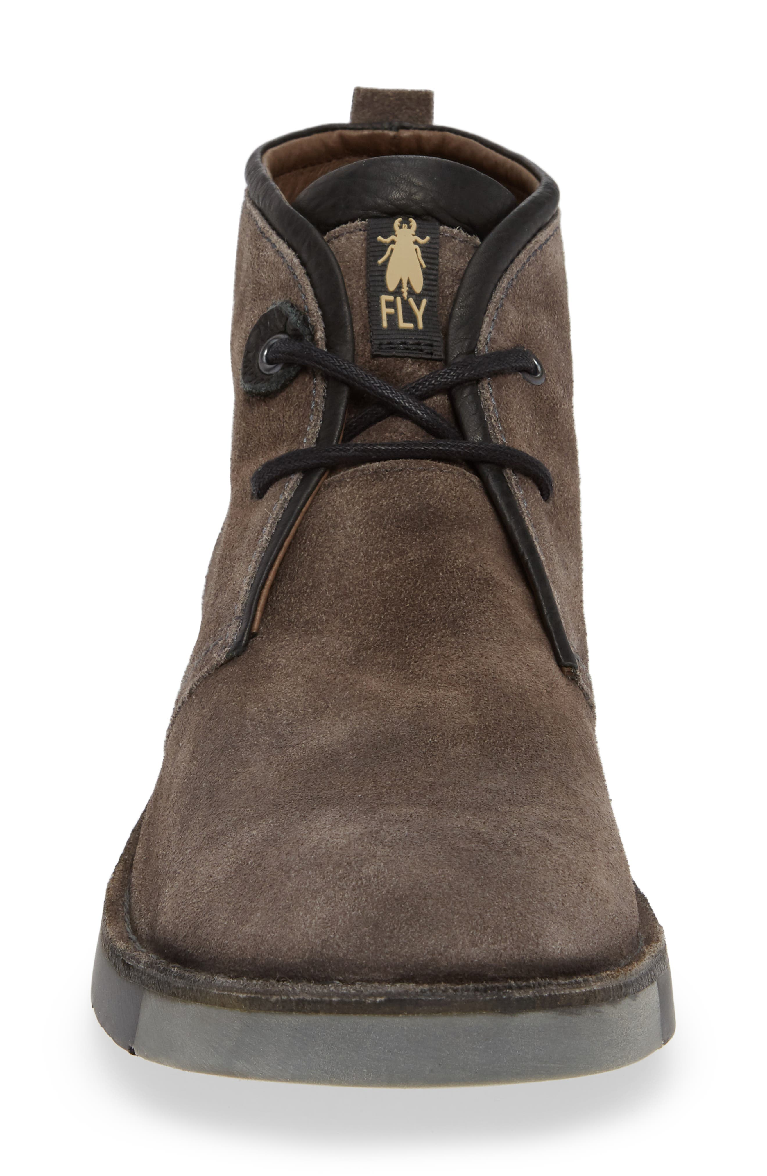 Sion Water Resistant Chukka Boot,                             Alternate thumbnail 4, color,                             GREY OIL SUEDE