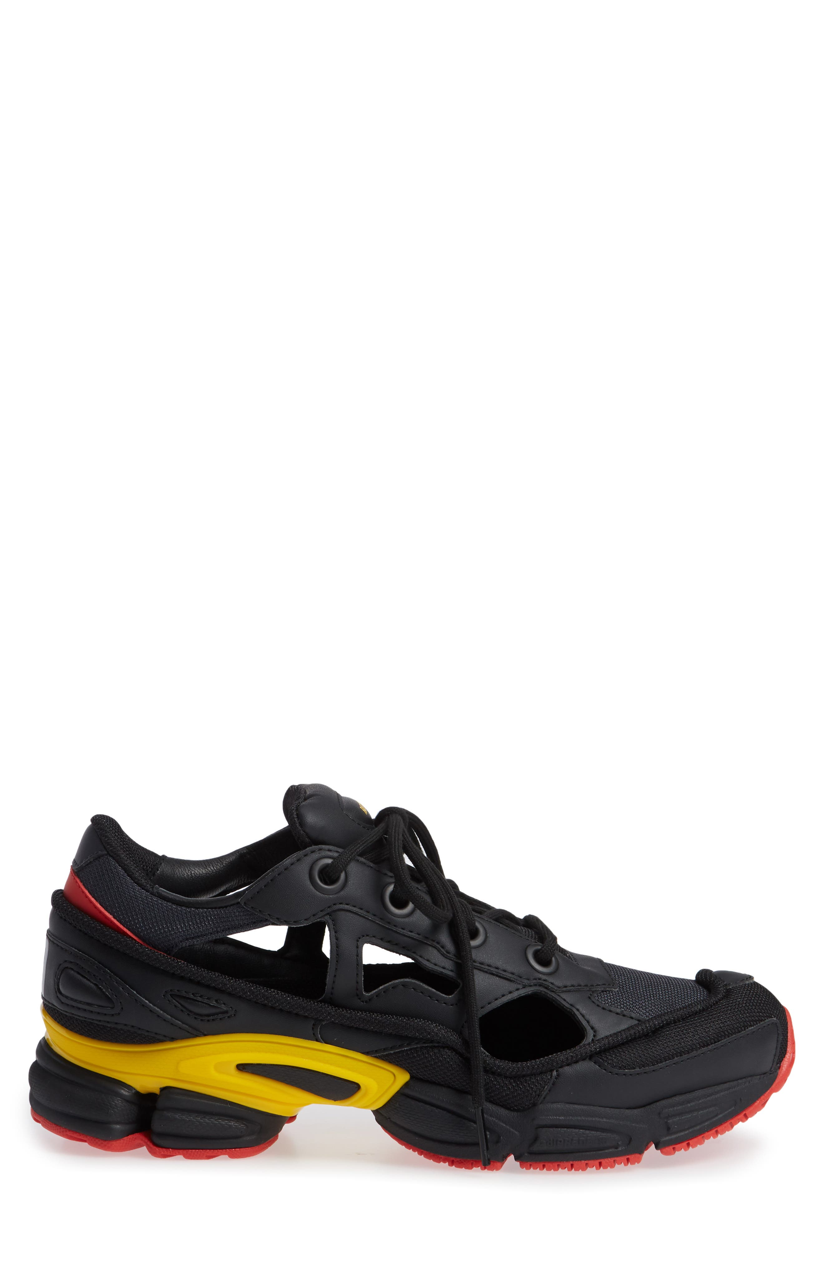adidas by Raf Simons Replicant Ozweego Sneaker,                             Alternate thumbnail 3, color,                             CORE BLACK/ NIGHT GREY