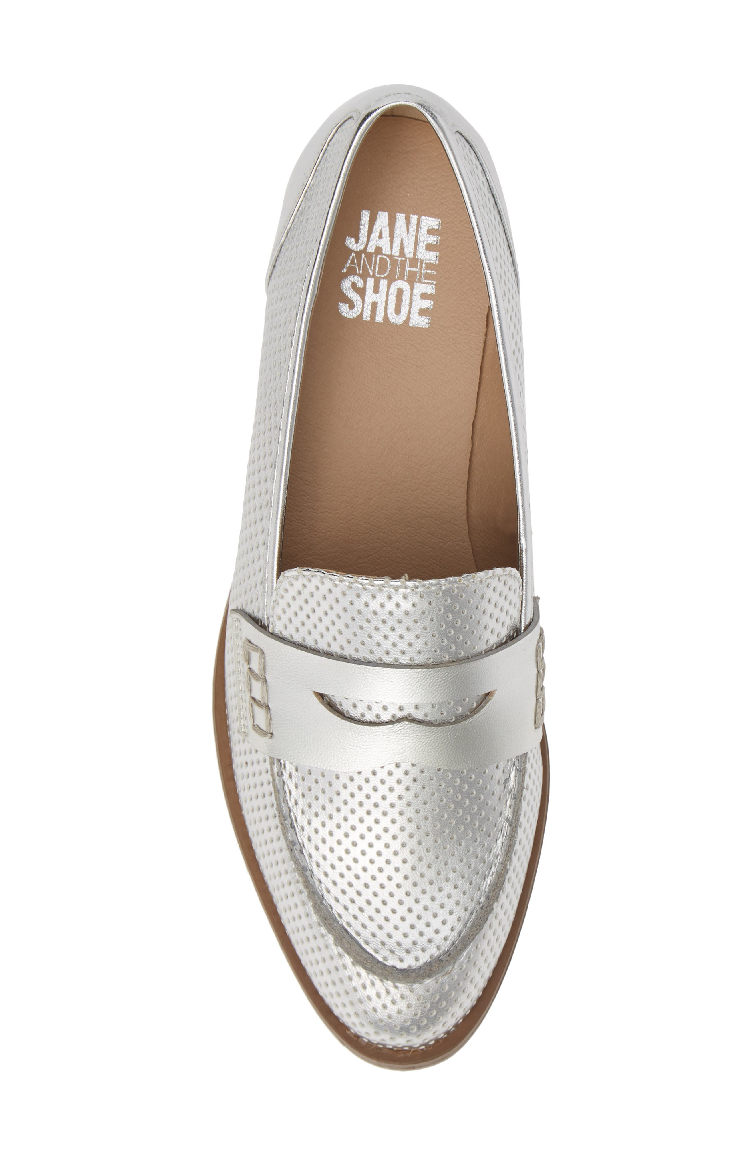 Lewis Loafer,                             Alternate thumbnail 5, color,                             SILVER