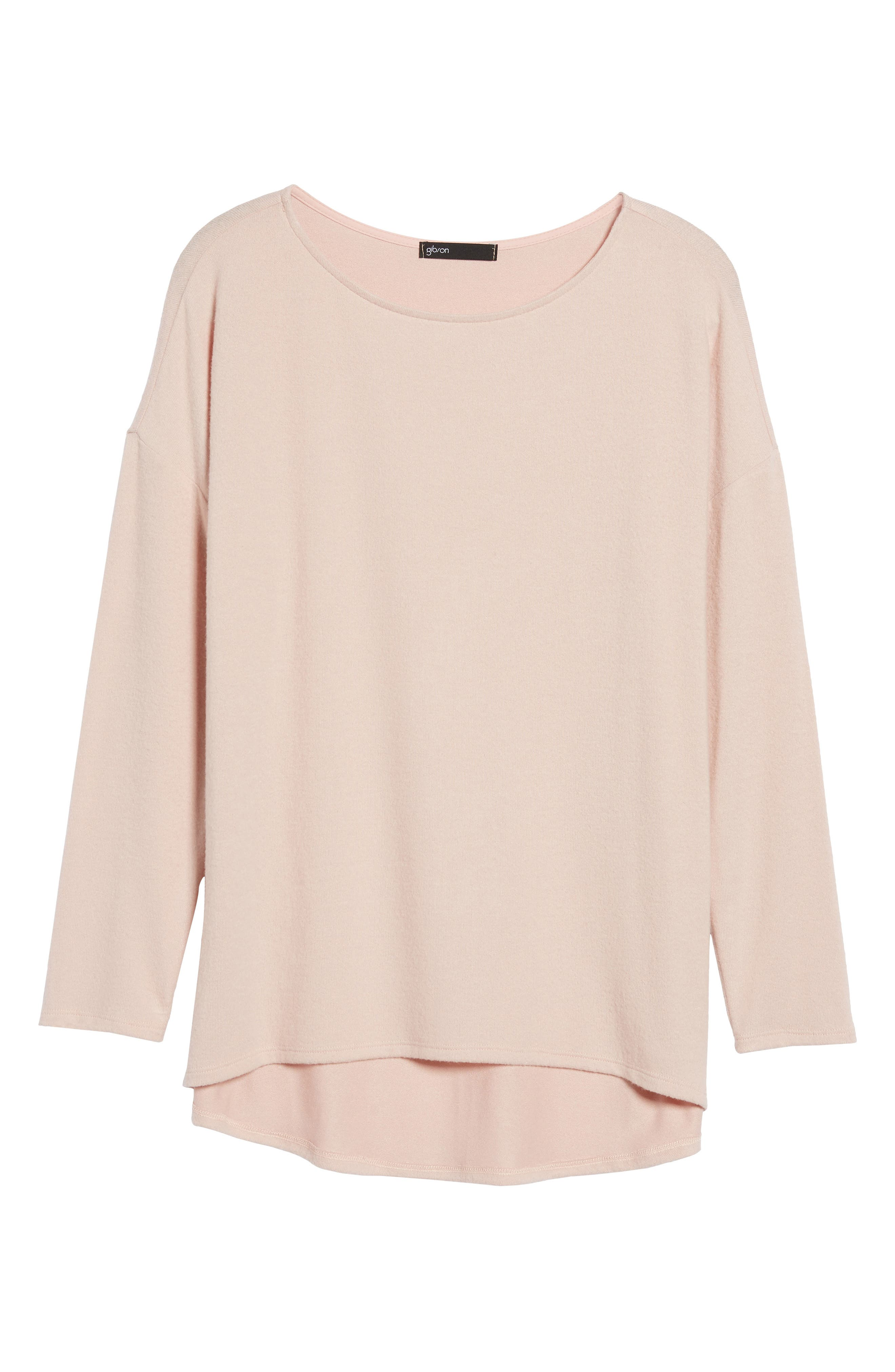 Cozy Ballet Neck High/Low Pullover,                             Alternate thumbnail 92, color,