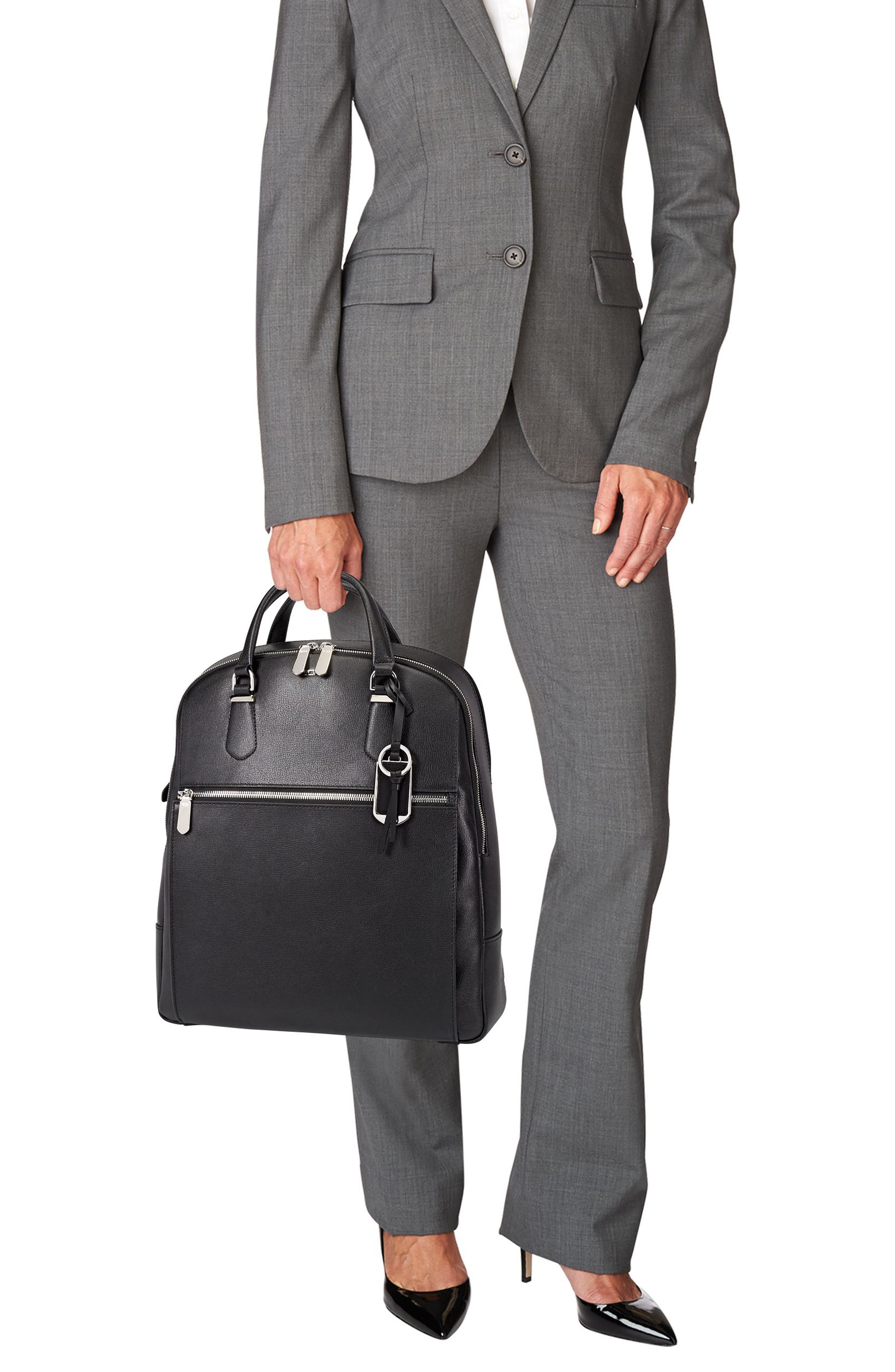 Stanton Orion Leather Backpack,                             Alternate thumbnail 4, color,                             001
