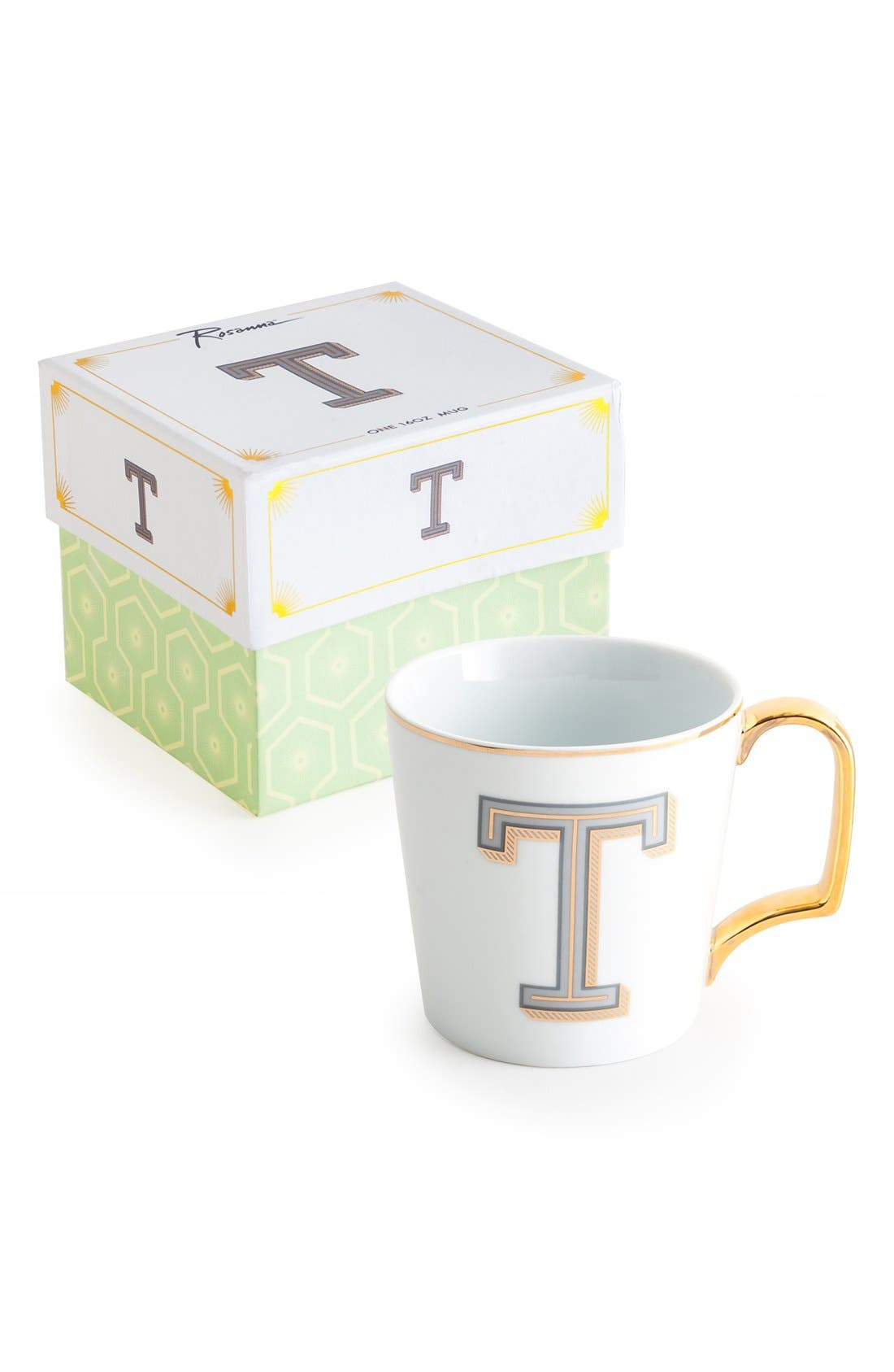 Monogram Porcelain Coffee Mug,                             Main thumbnail 16, color,