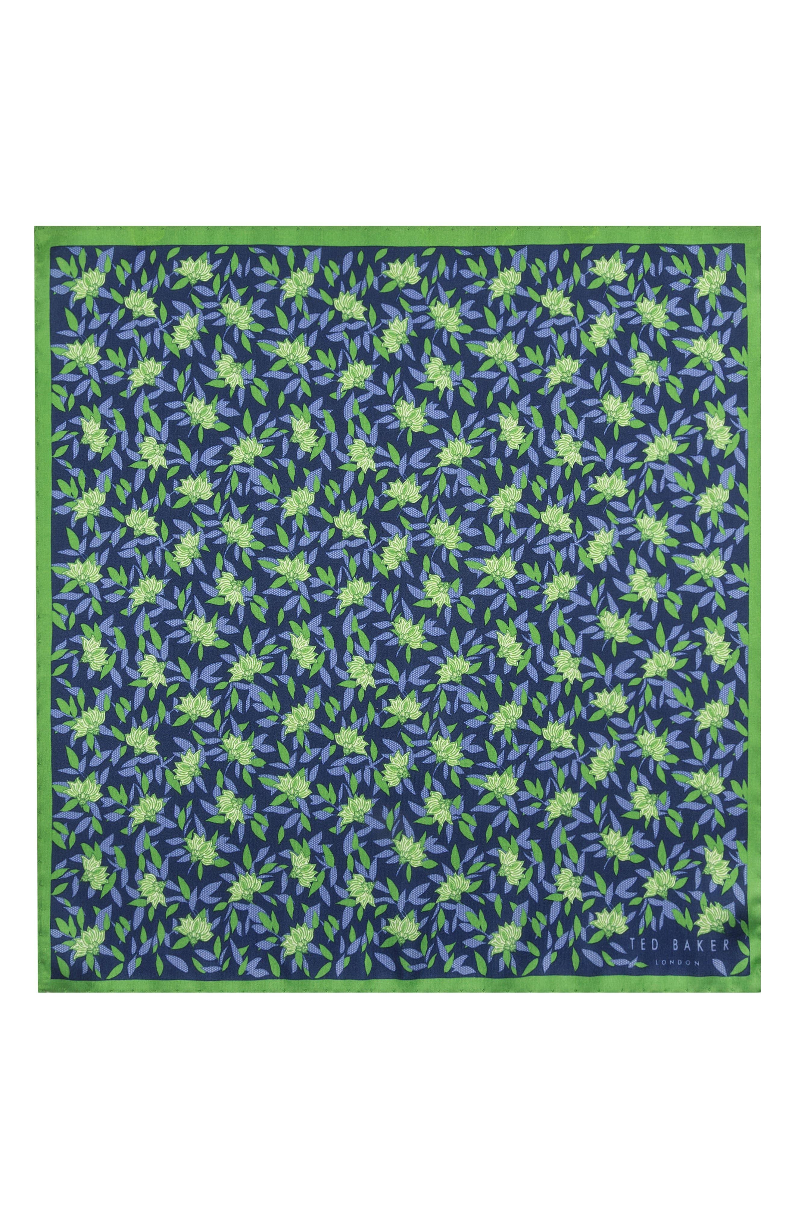 Botanical Silk Pocket Square,                             Alternate thumbnail 2, color,                             300