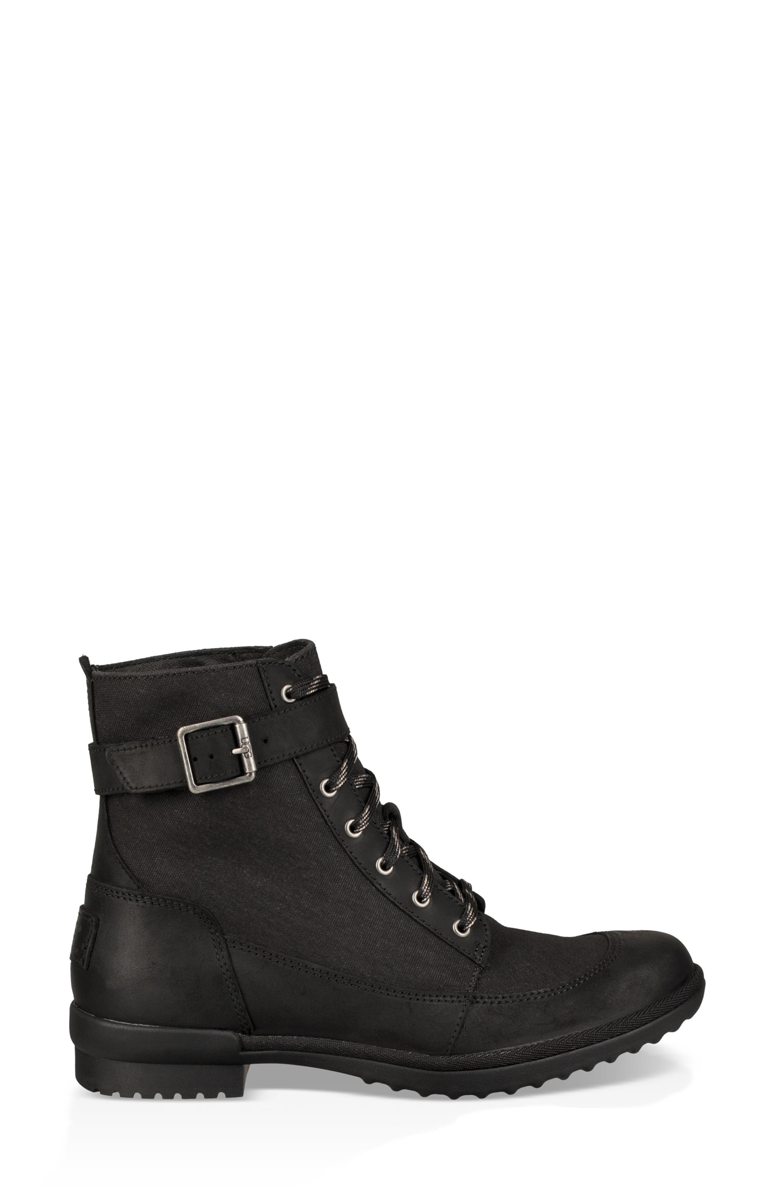Tulane Waterproof Boot,                             Alternate thumbnail 3, color,                             BLACK LEATHER