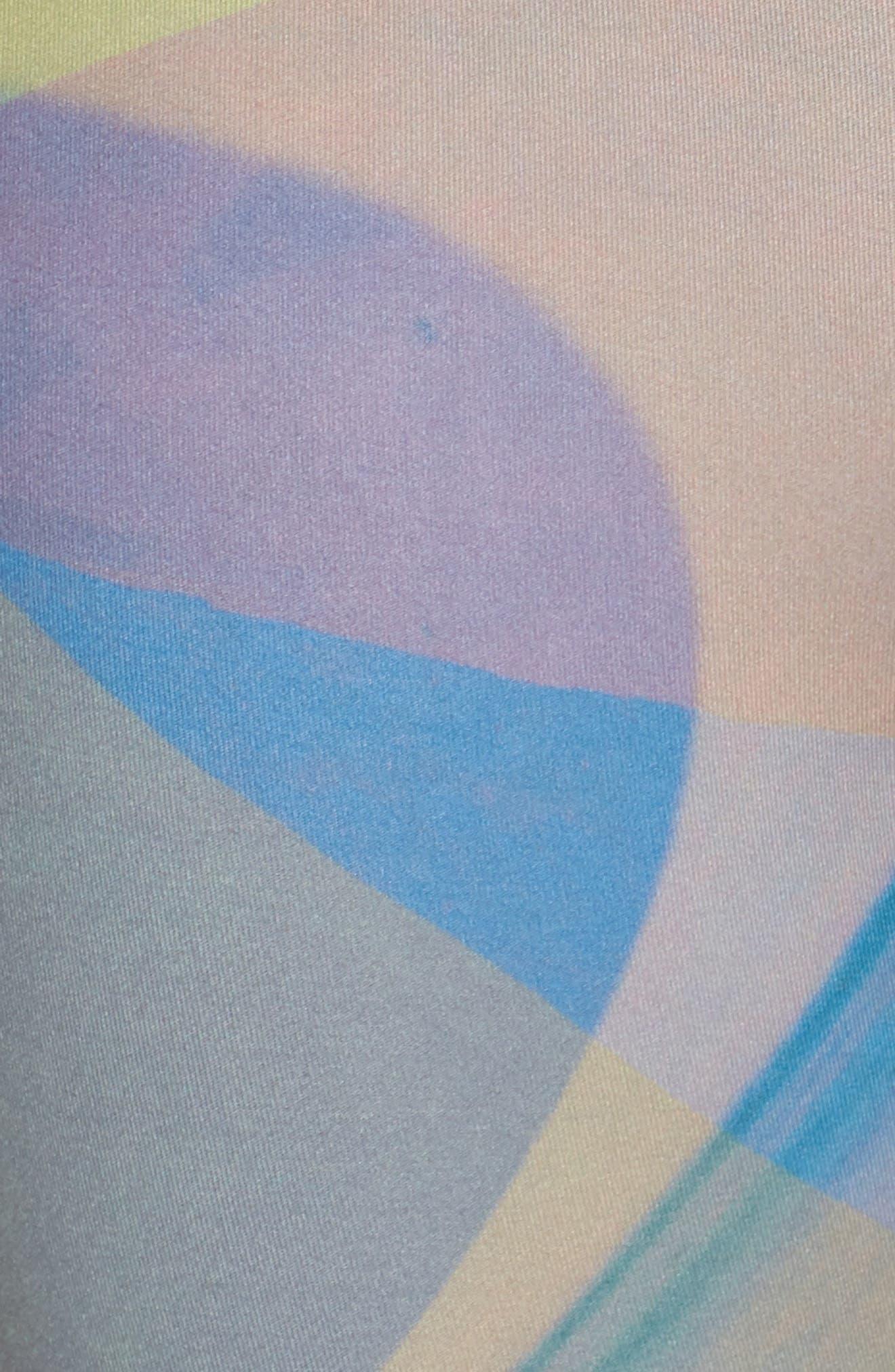 Katya High Waist Abstract Print Recycled Crop Leggings,                             Alternate thumbnail 6, color,                             GREY URBAN ABSTRACT BOTANICAL