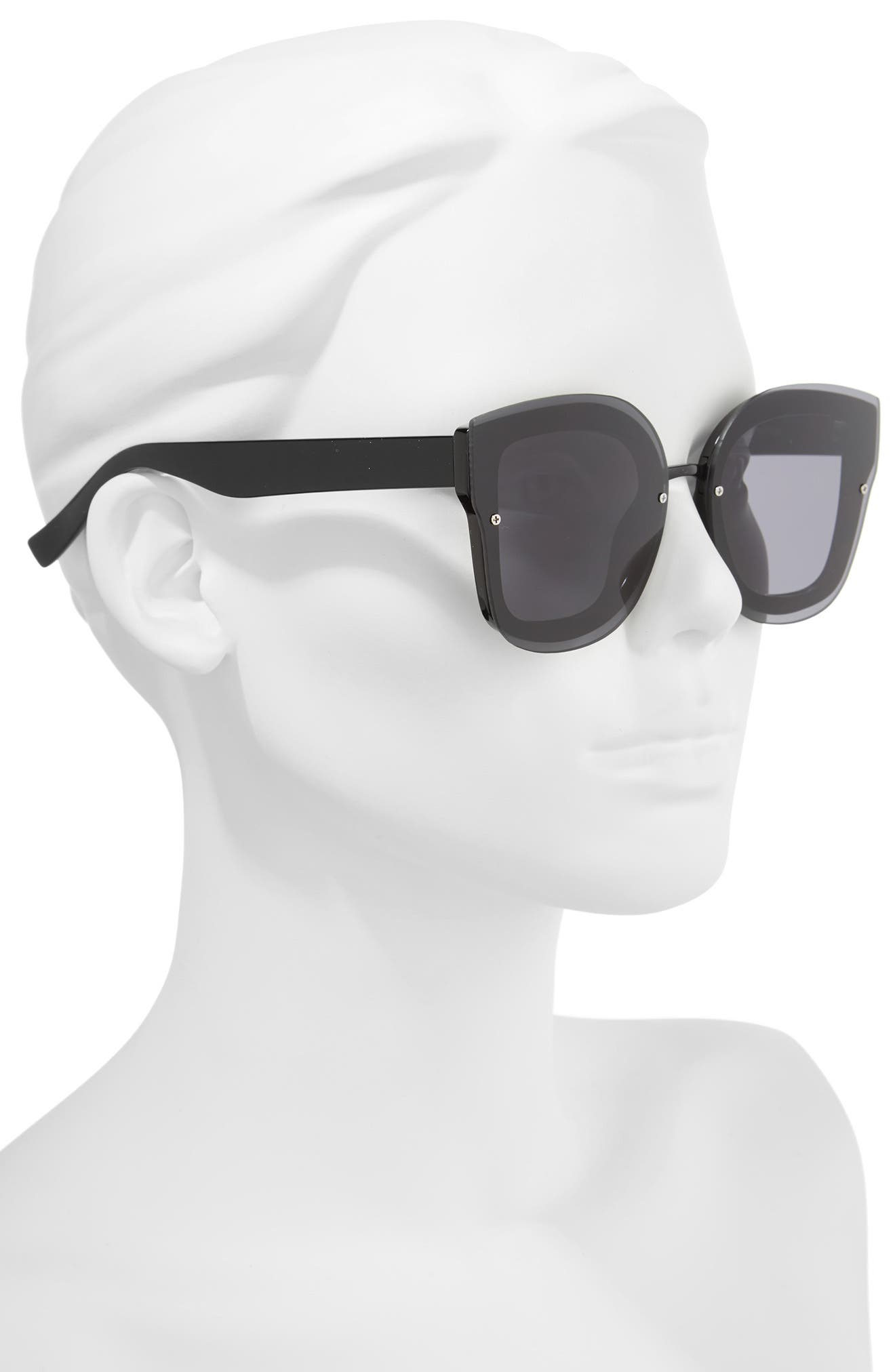 50mm Squared-Off Sunglasses,                             Alternate thumbnail 2, color,                             001