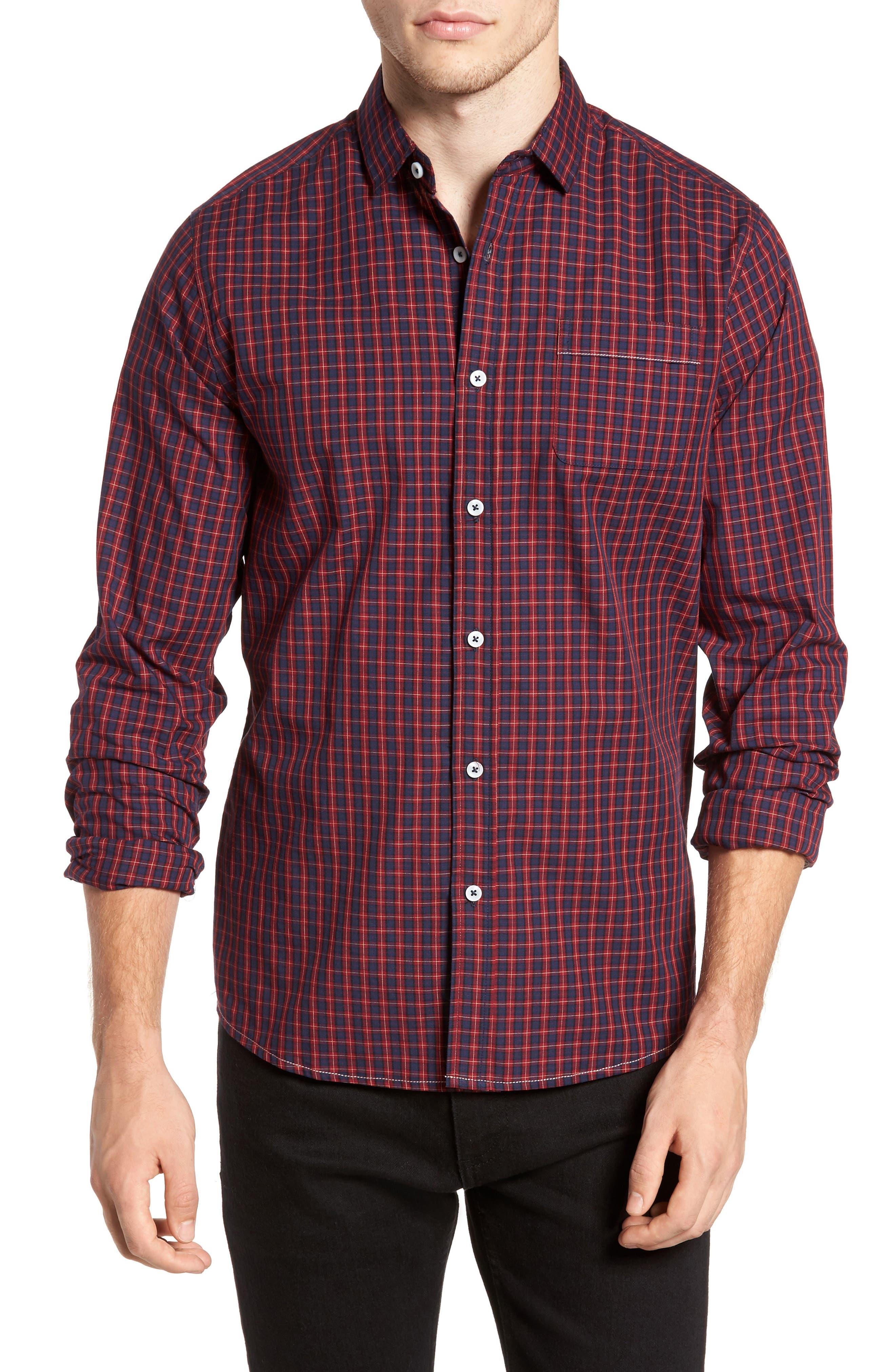 Tinto Plaid Woven Shirt,                             Main thumbnail 1, color,                             600