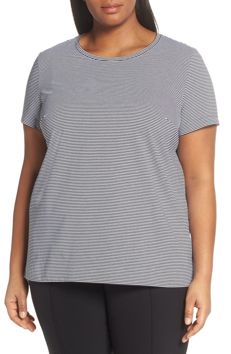 4817ec4c826 Lafayette 148 New York Kim Stripe Tee (Plus Size)