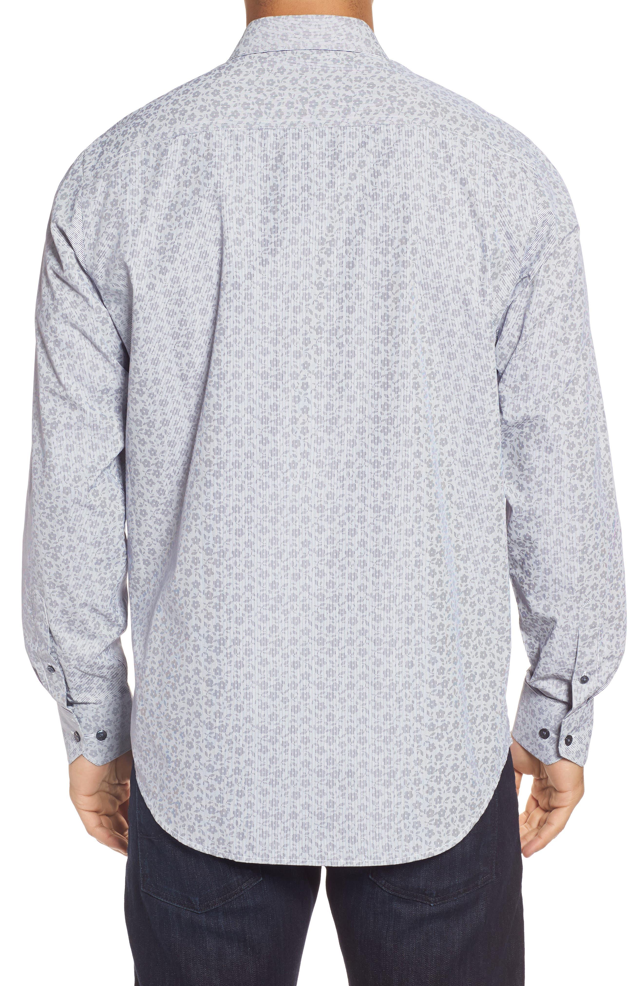 Classic Fit Floral Pinstripe Sport Shirt,                             Alternate thumbnail 2, color,                             030