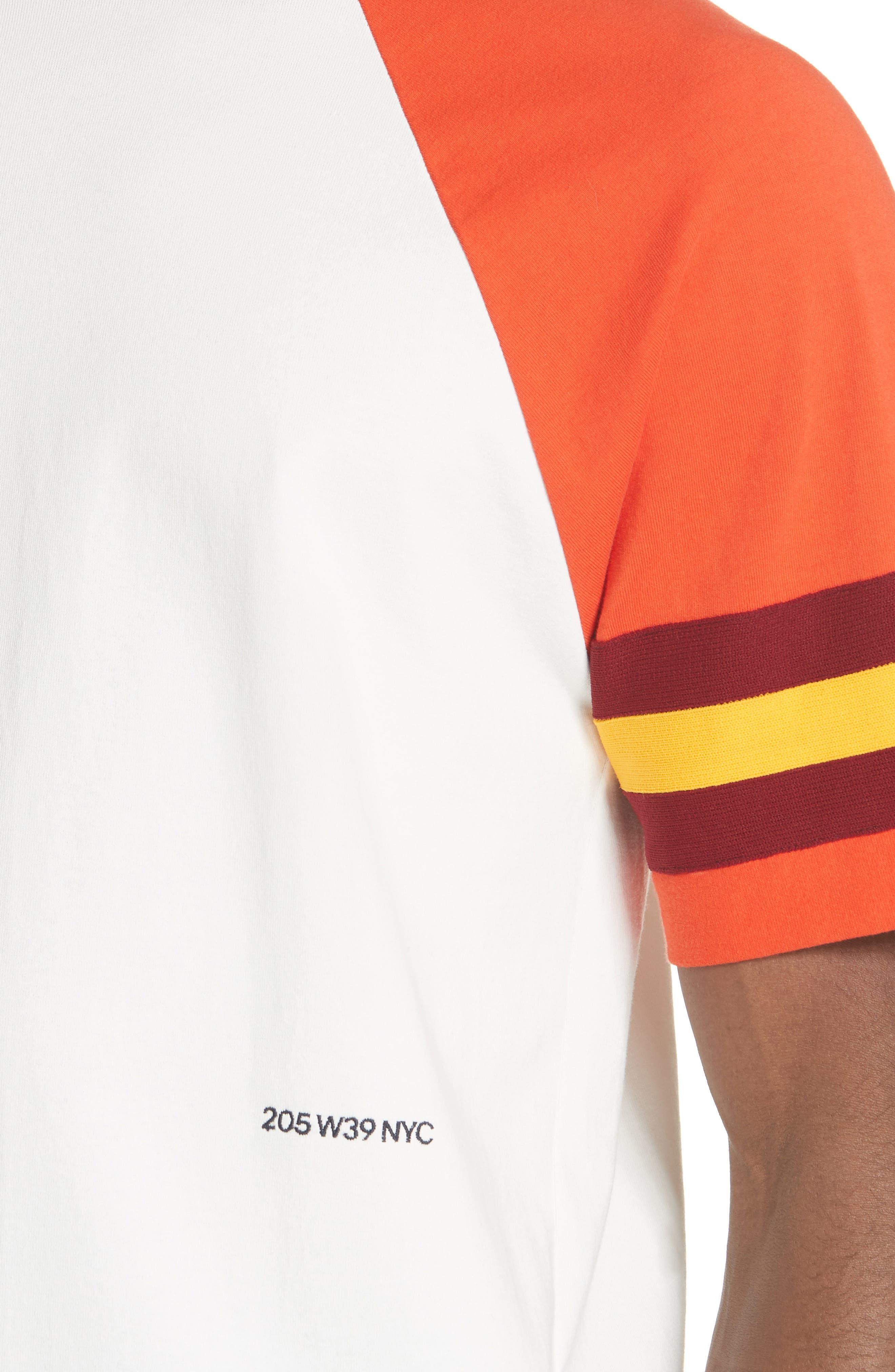 Jersey Varsity T-Shirt,                             Alternate thumbnail 4, color,                             WHITE