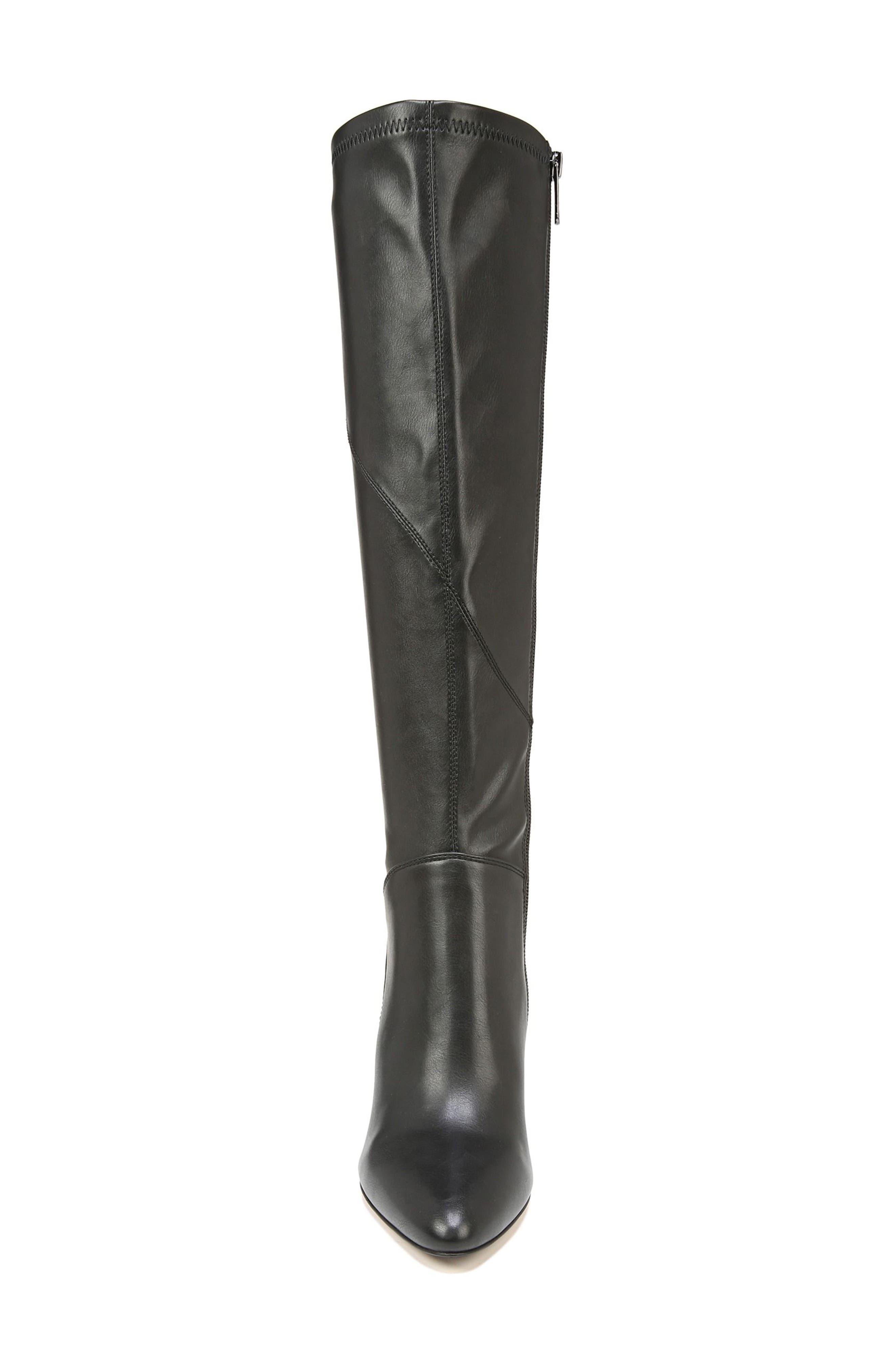 Flavia Knee High Boot,                             Alternate thumbnail 4, color,                             001