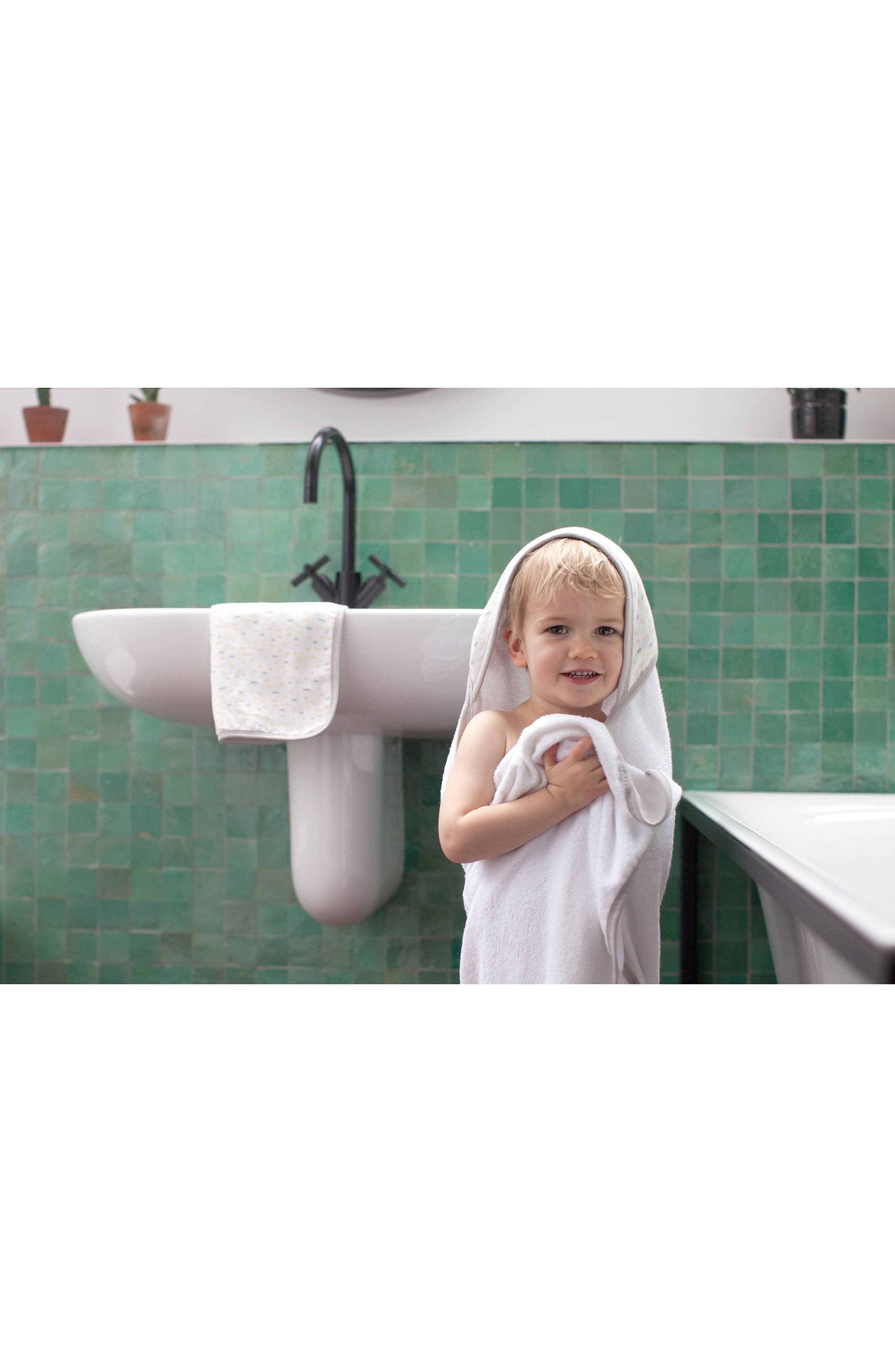 Hooded Towel & Washcloth Set,                             Alternate thumbnail 4, color,                             108