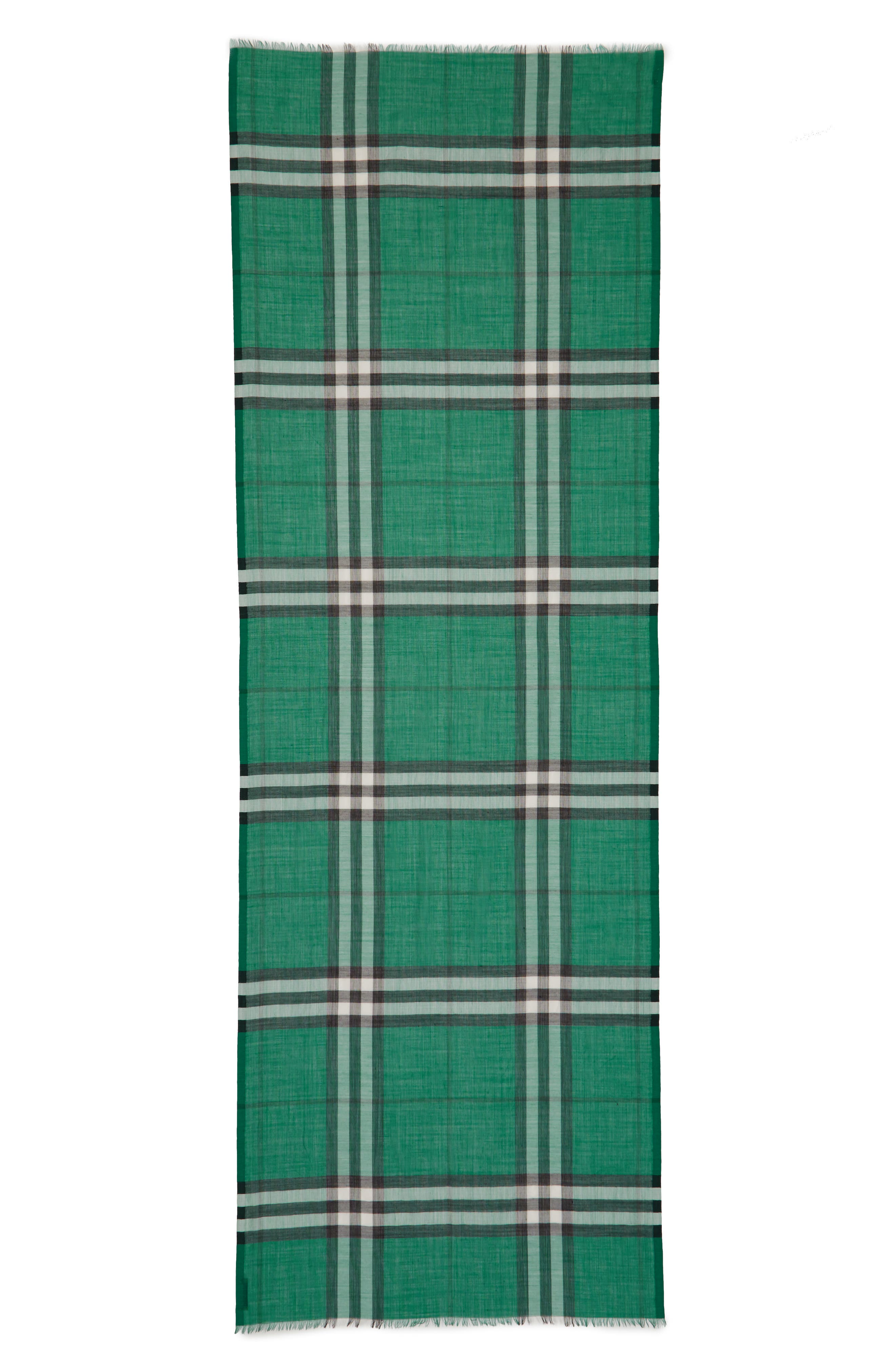 Giant Check Print Wool & Silk Scarf,                             Alternate thumbnail 85, color,
