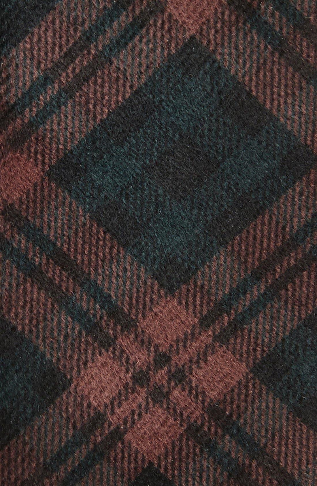 Plaid Velvet Slim Tie,                             Alternate thumbnail 2, color,                             930