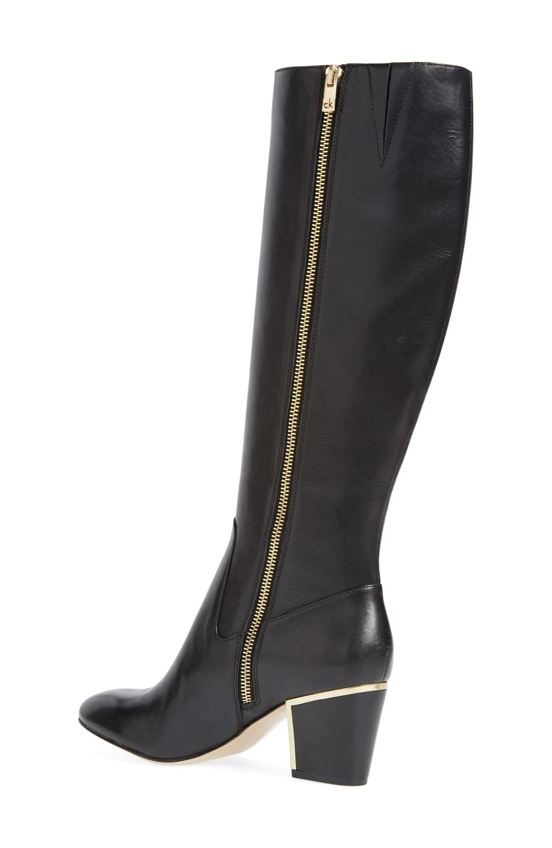 'Keana' Knee High Boot,                             Alternate thumbnail 2, color,                             001