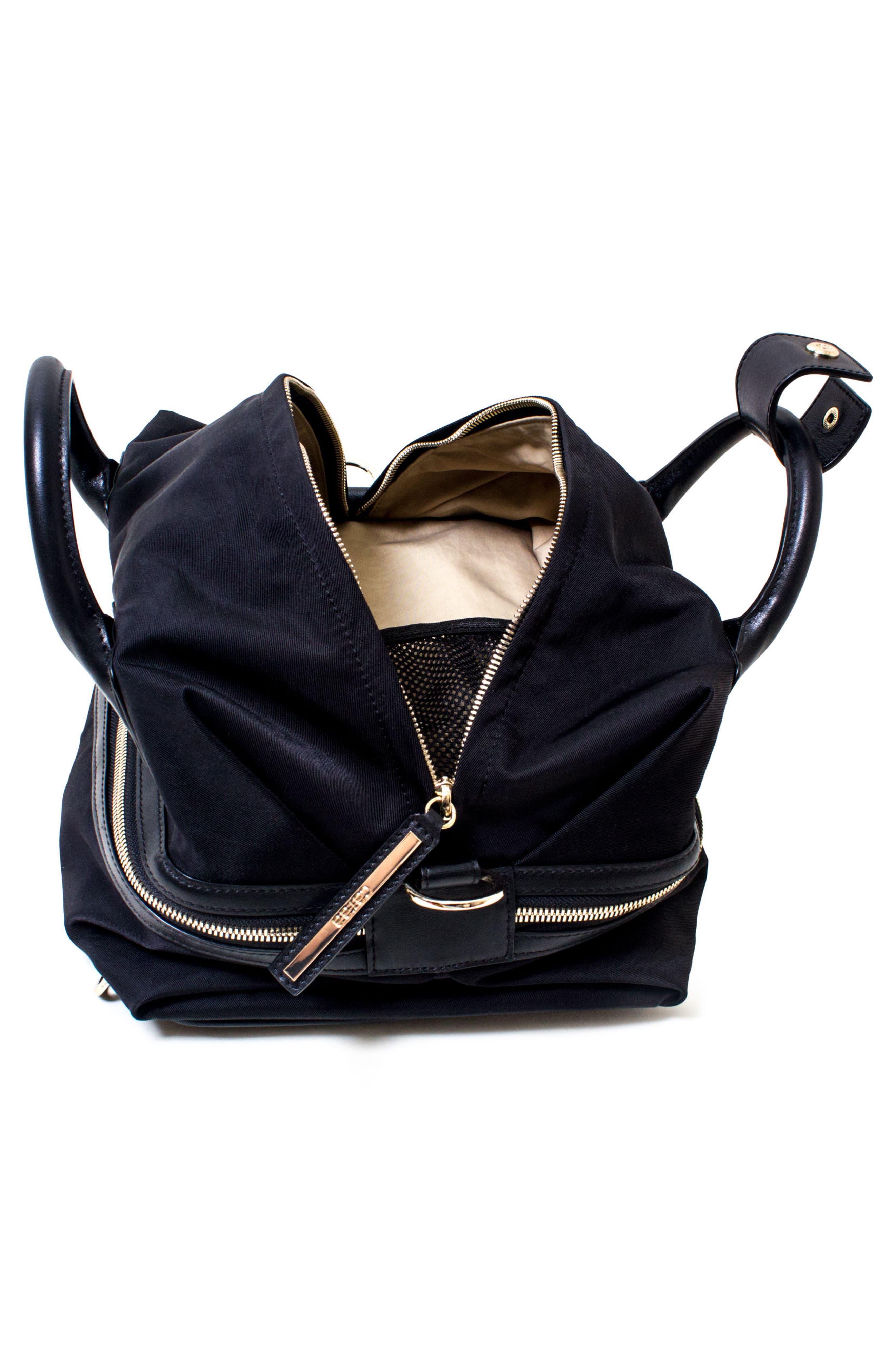 Studio Duffel Backpack,                             Alternate thumbnail 5, color,                             BLACK/ GOLD
