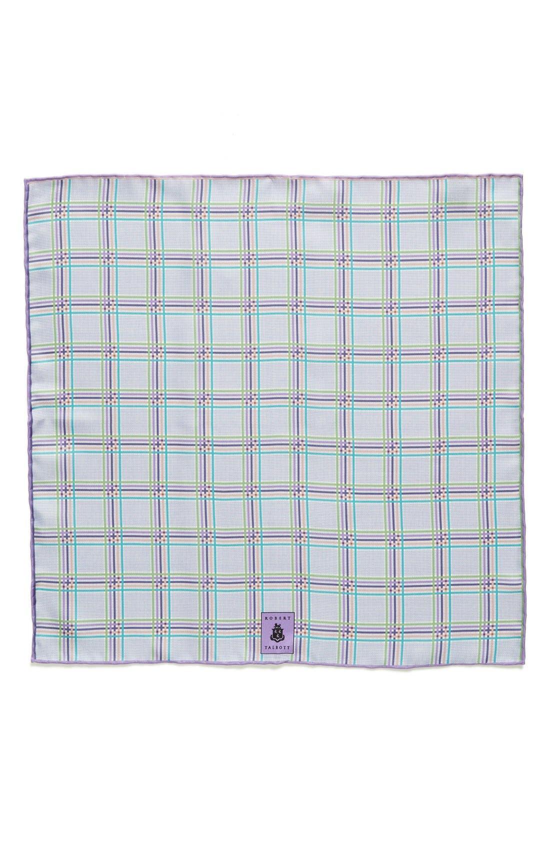 Plaid Silk Pocket Square,                             Alternate thumbnail 11, color,