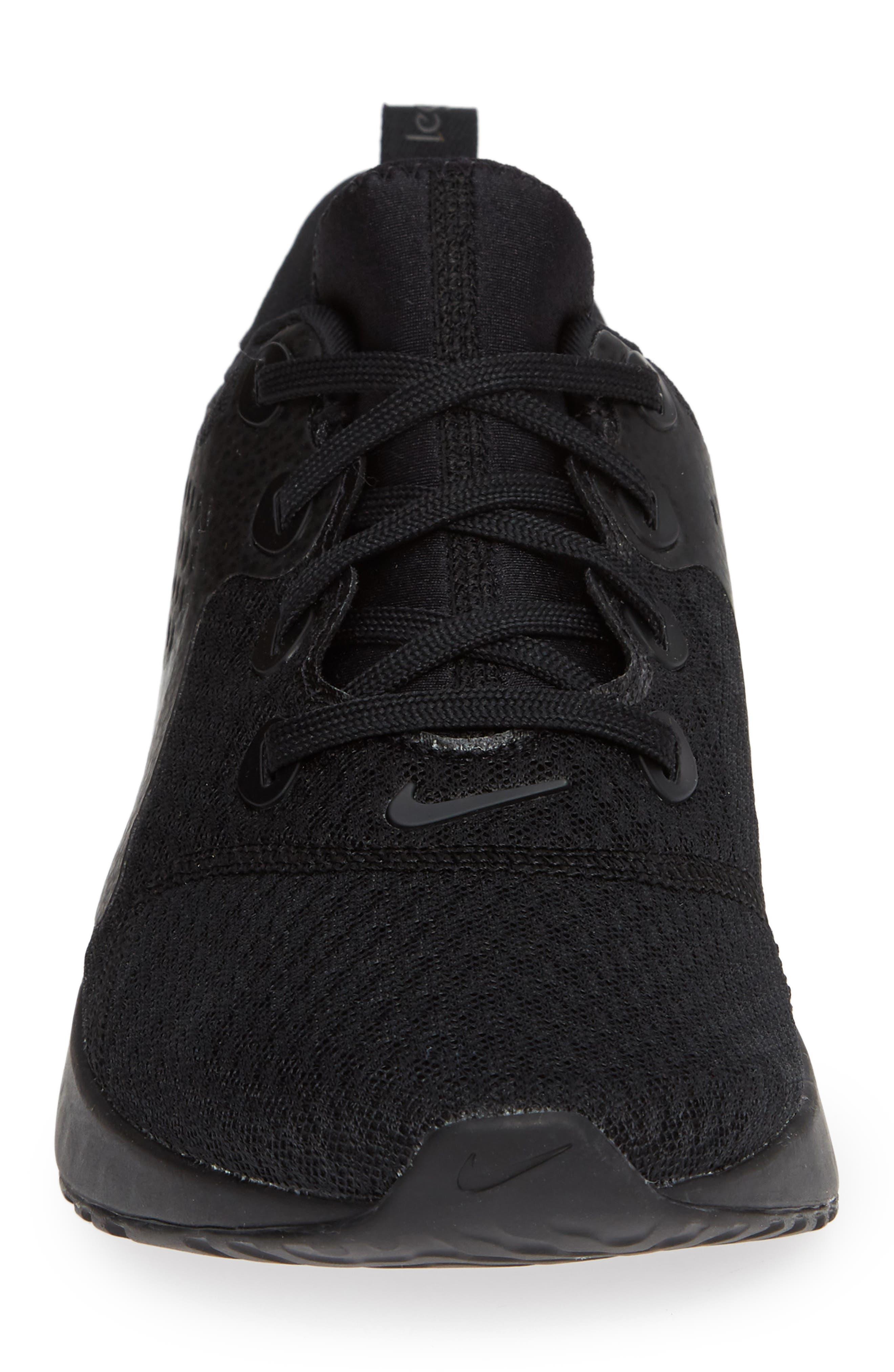 Rebel React Sneaker,                             Alternate thumbnail 4, color,                             BLACK/ BLACK