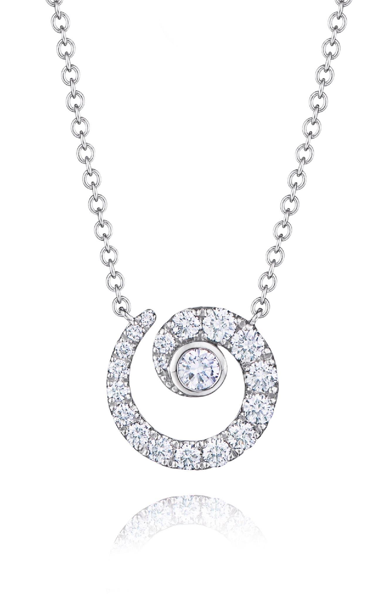 KWIAT Diamond Coil Pendant Necklace in White Gold