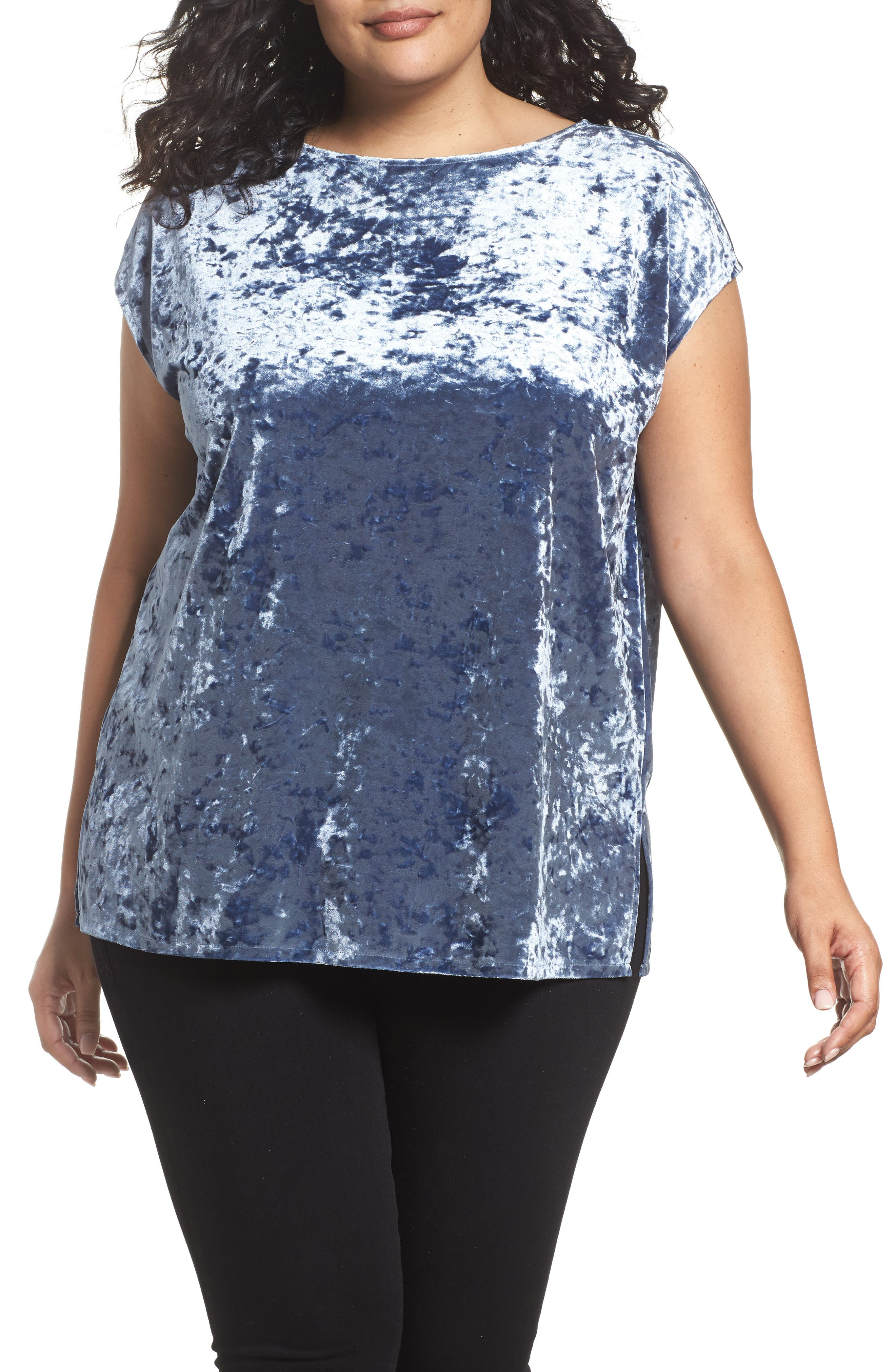 Crushed Velvet Knit Tee,                         Main,                         color, 404
