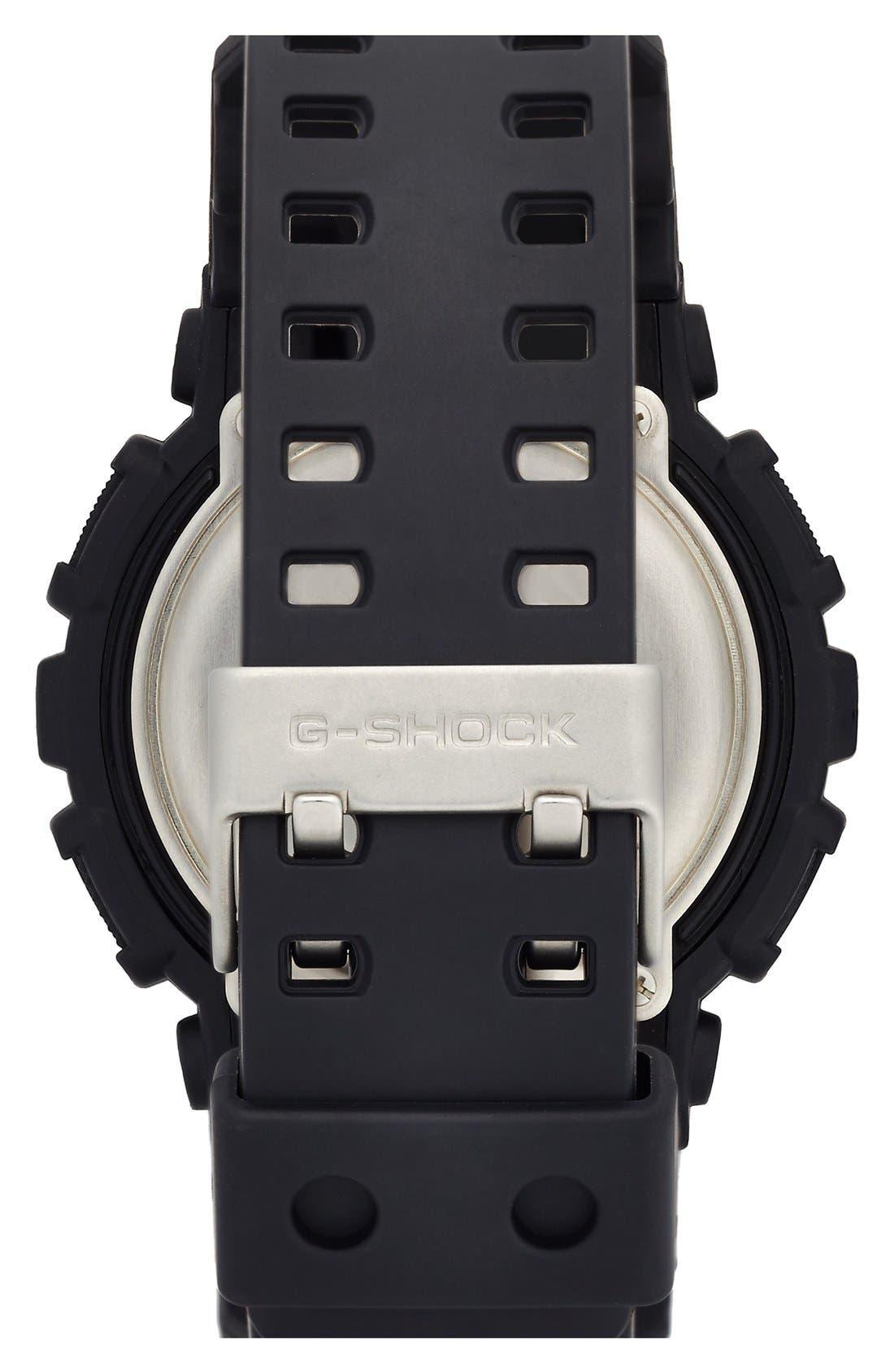 G-Shock X-Large Dual Movement Watch, 55mm,                             Alternate thumbnail 4, color,                             BLACK