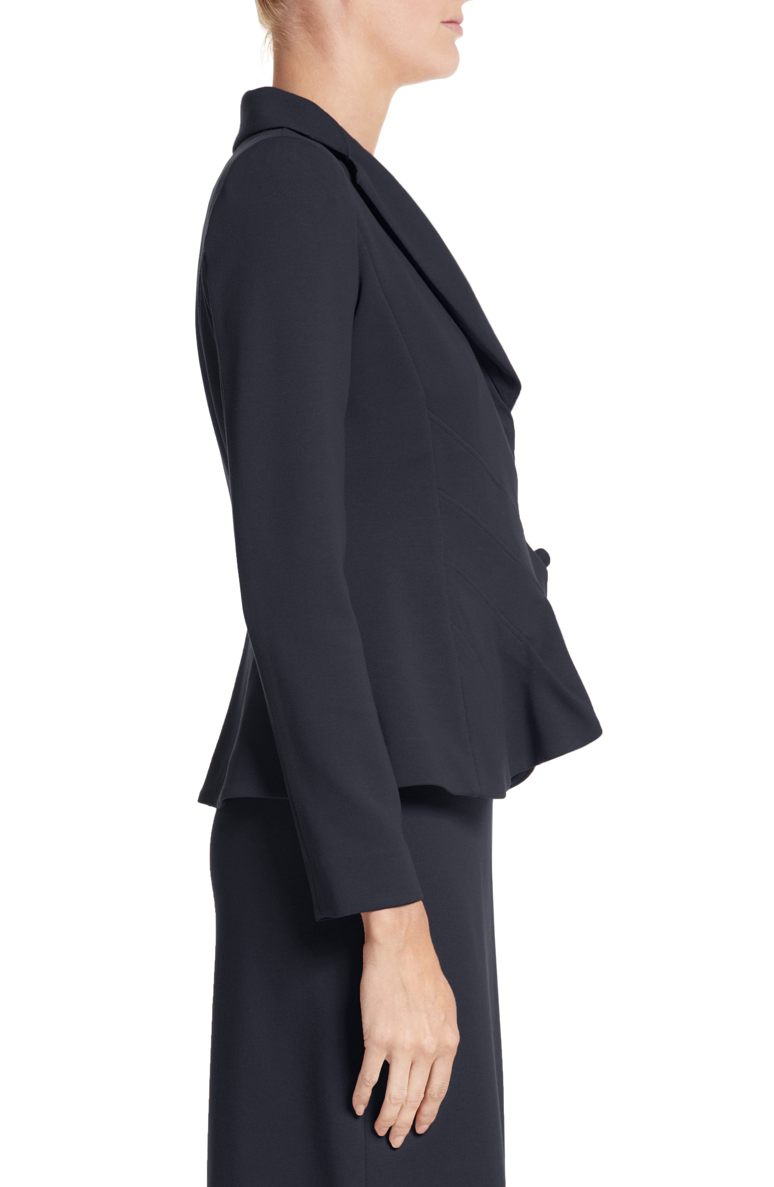 Asymmetrical Pleated Front Jacket,                             Alternate thumbnail 3, color,                             414