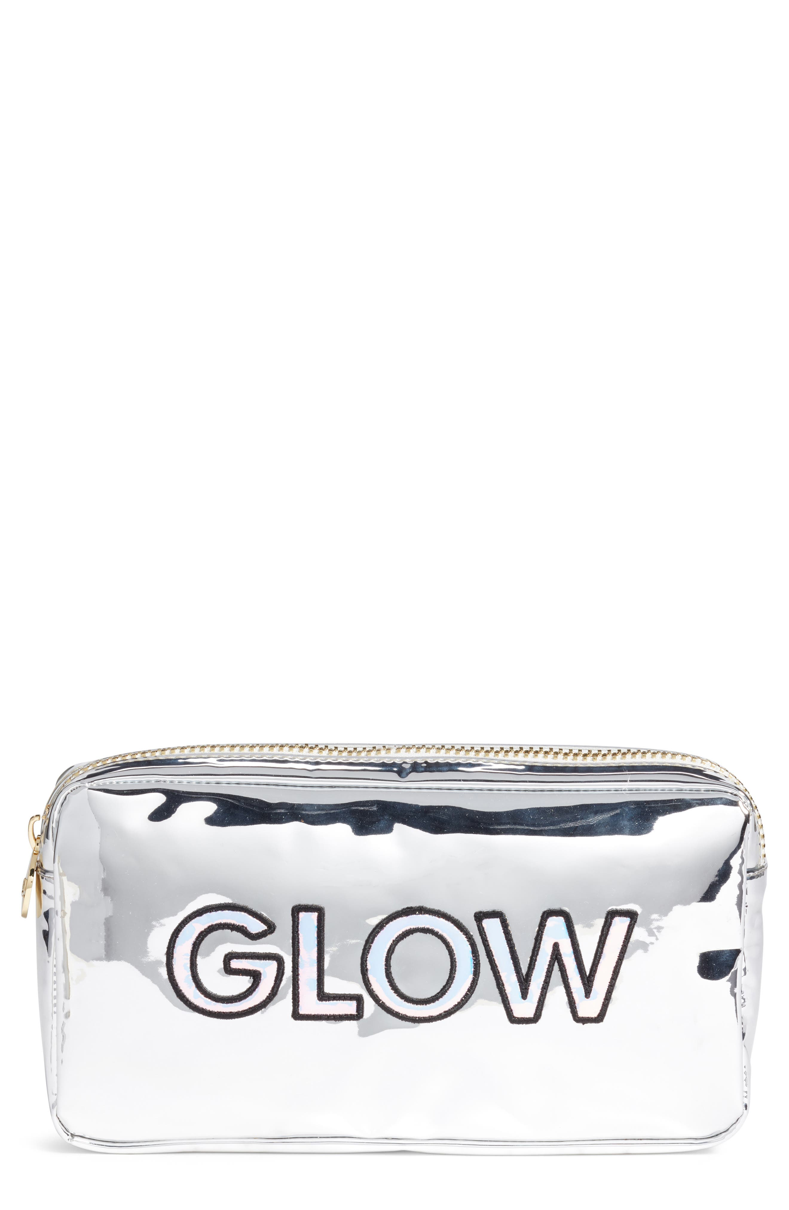 STONEY CLOVER LANE Metallic Small Pouch in Silver
