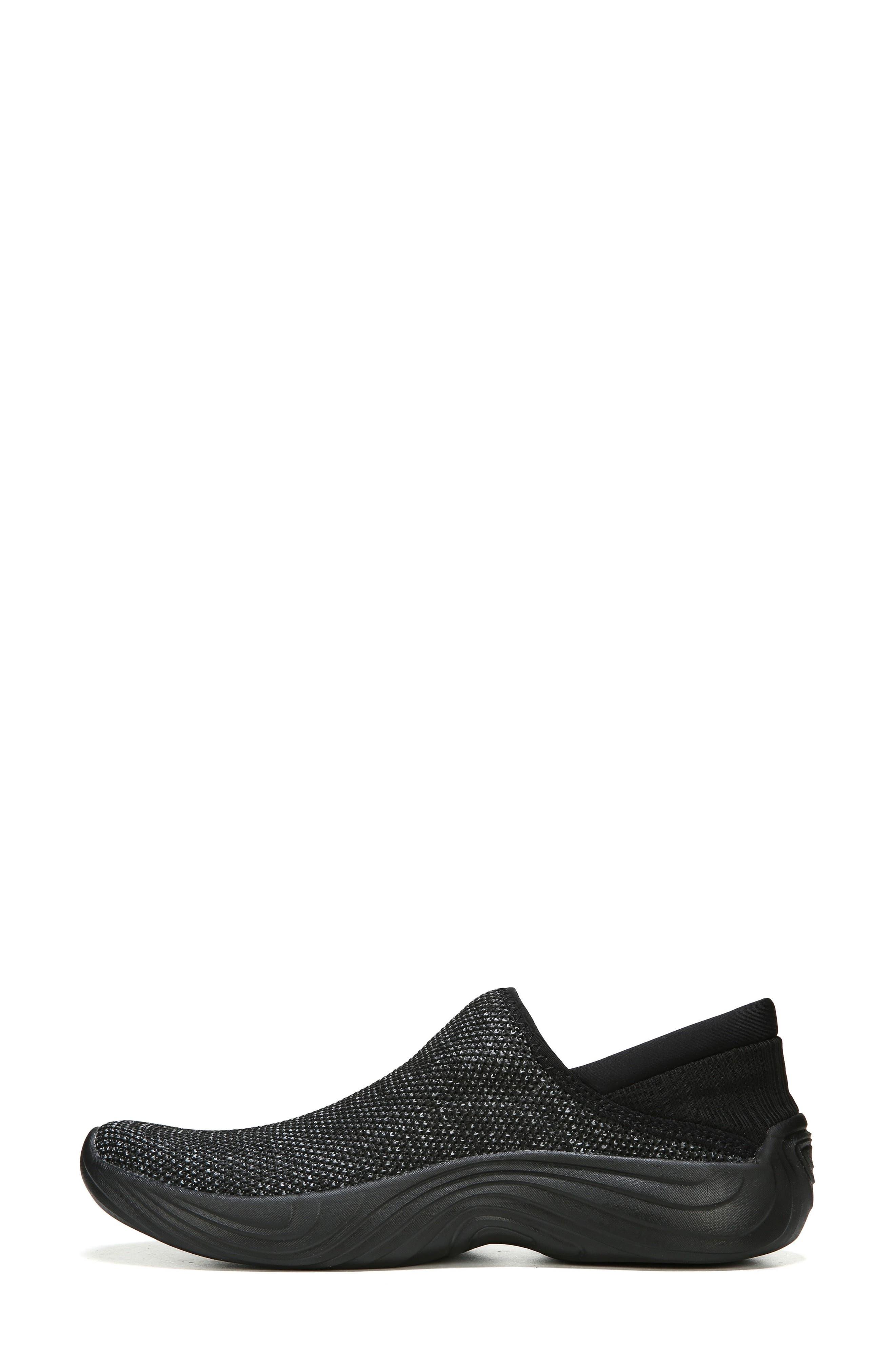 Topaz Slip-On Sneaker,                             Alternate thumbnail 3, color,                             BLACK FABRIC