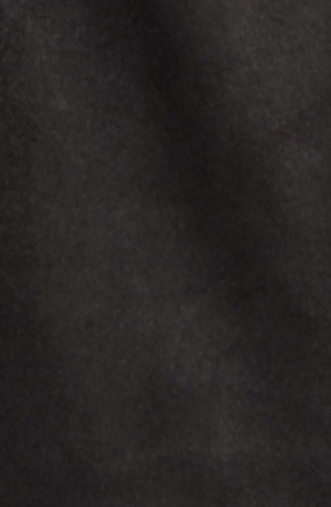 John Varvatos x Nick Jonas Suede Shirt Jacket,                             Alternate thumbnail 6, color,                             BLACK