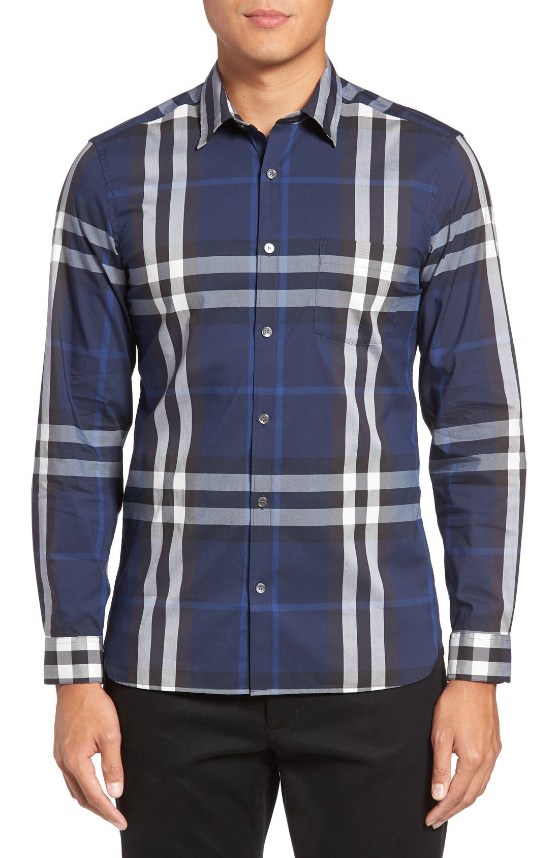 Nelson Check Sport Shirt,                             Main thumbnail 20, color,