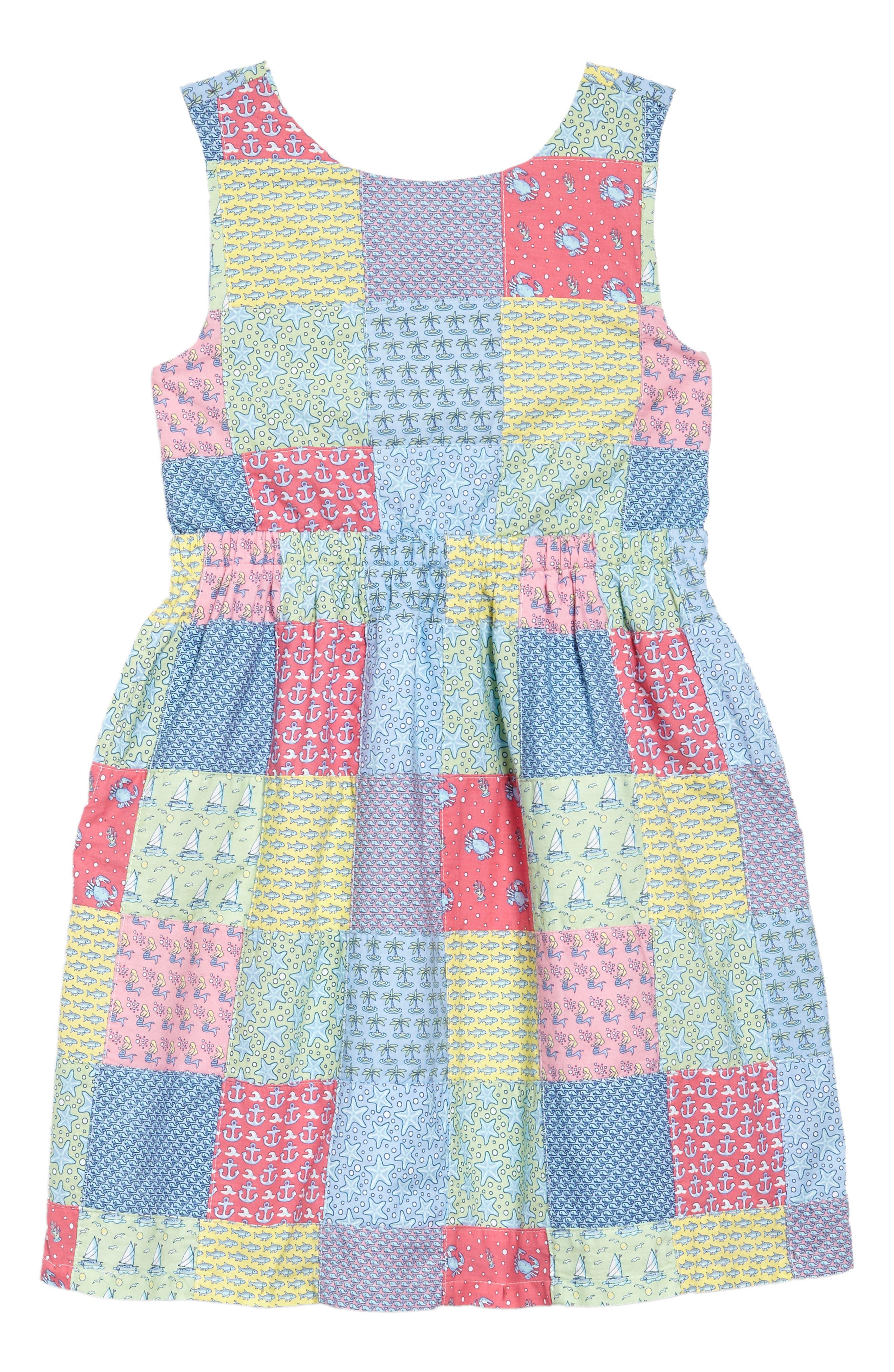 Patchwork Tie Dress,                             Main thumbnail 1, color,                             609