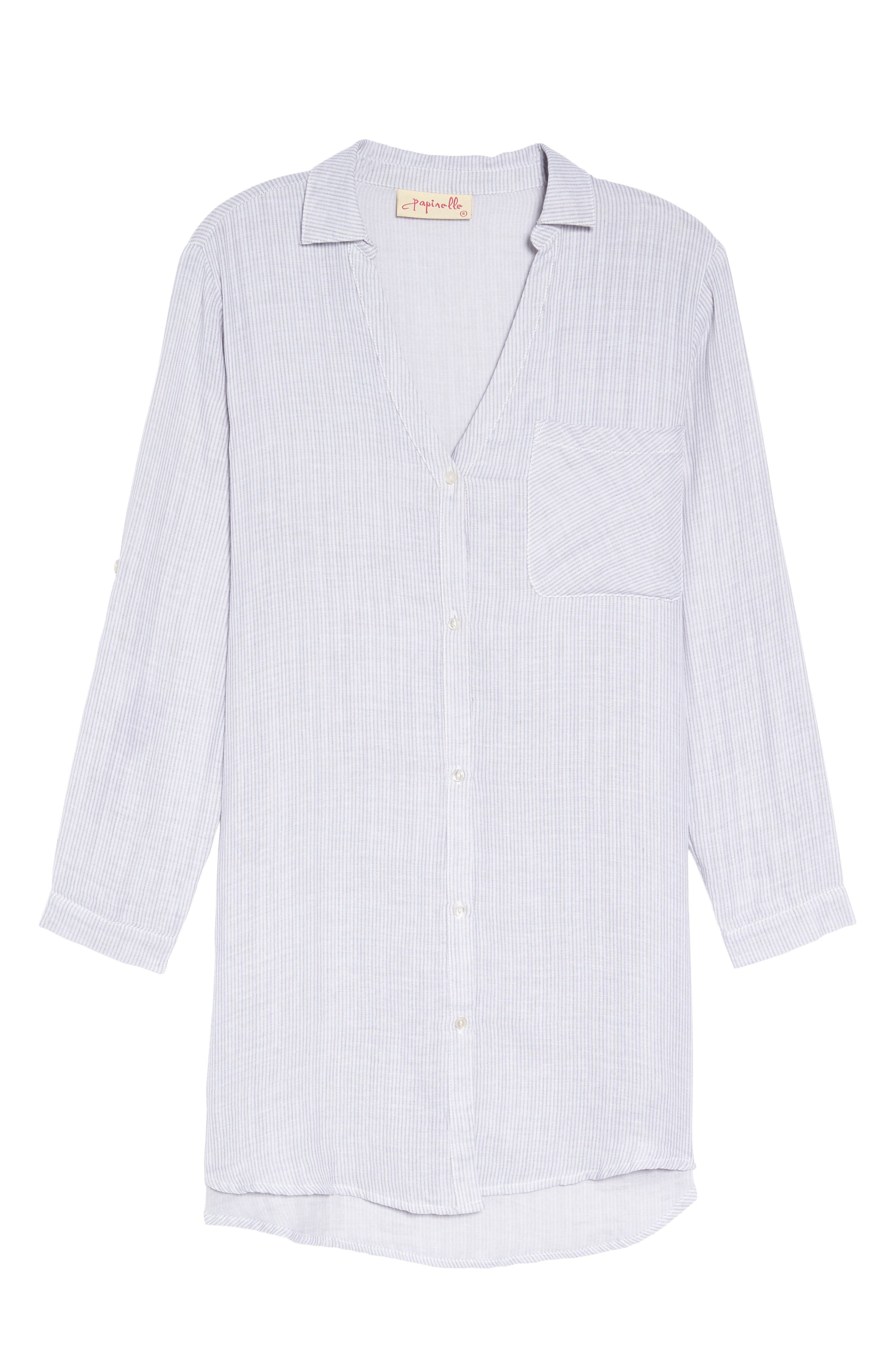 Stripe Sleep Shirt,                             Alternate thumbnail 6, color,                             022
