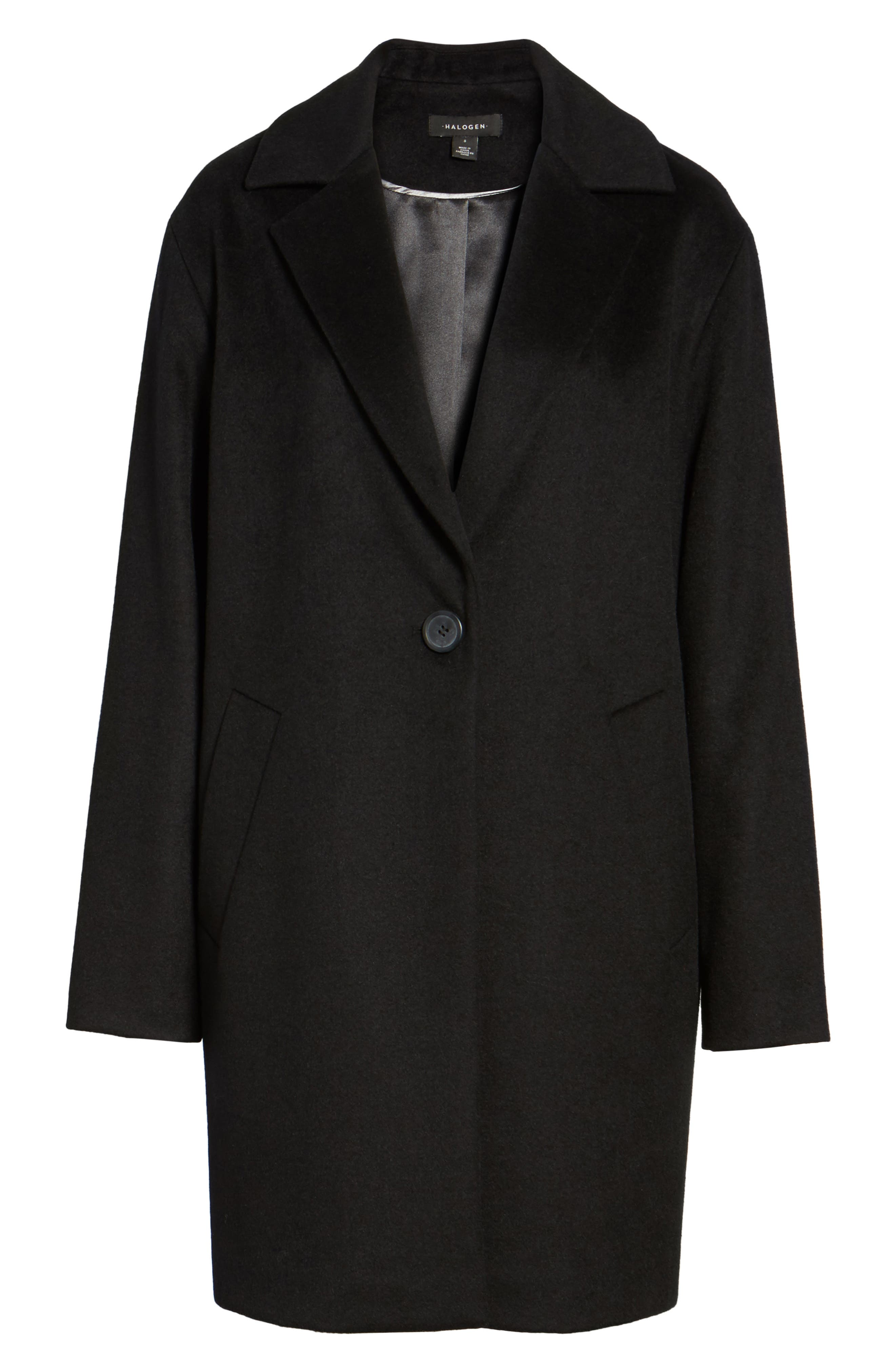 Wool Blend Coat,                             Alternate thumbnail 5, color,                             001