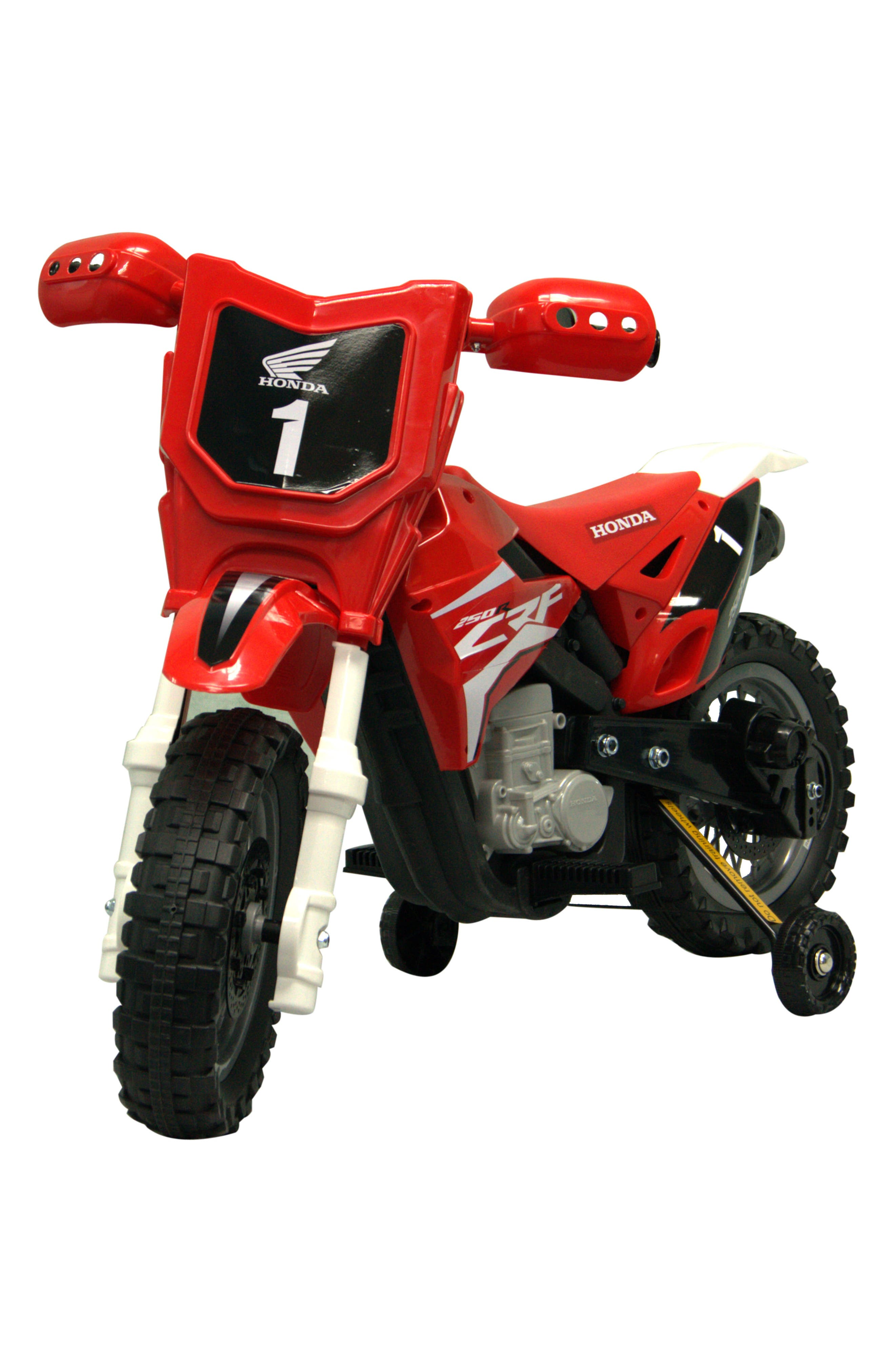 Honda Dirt Bike Ride-On Toy Motorcycle,                             Alternate thumbnail 5, color,                             RED