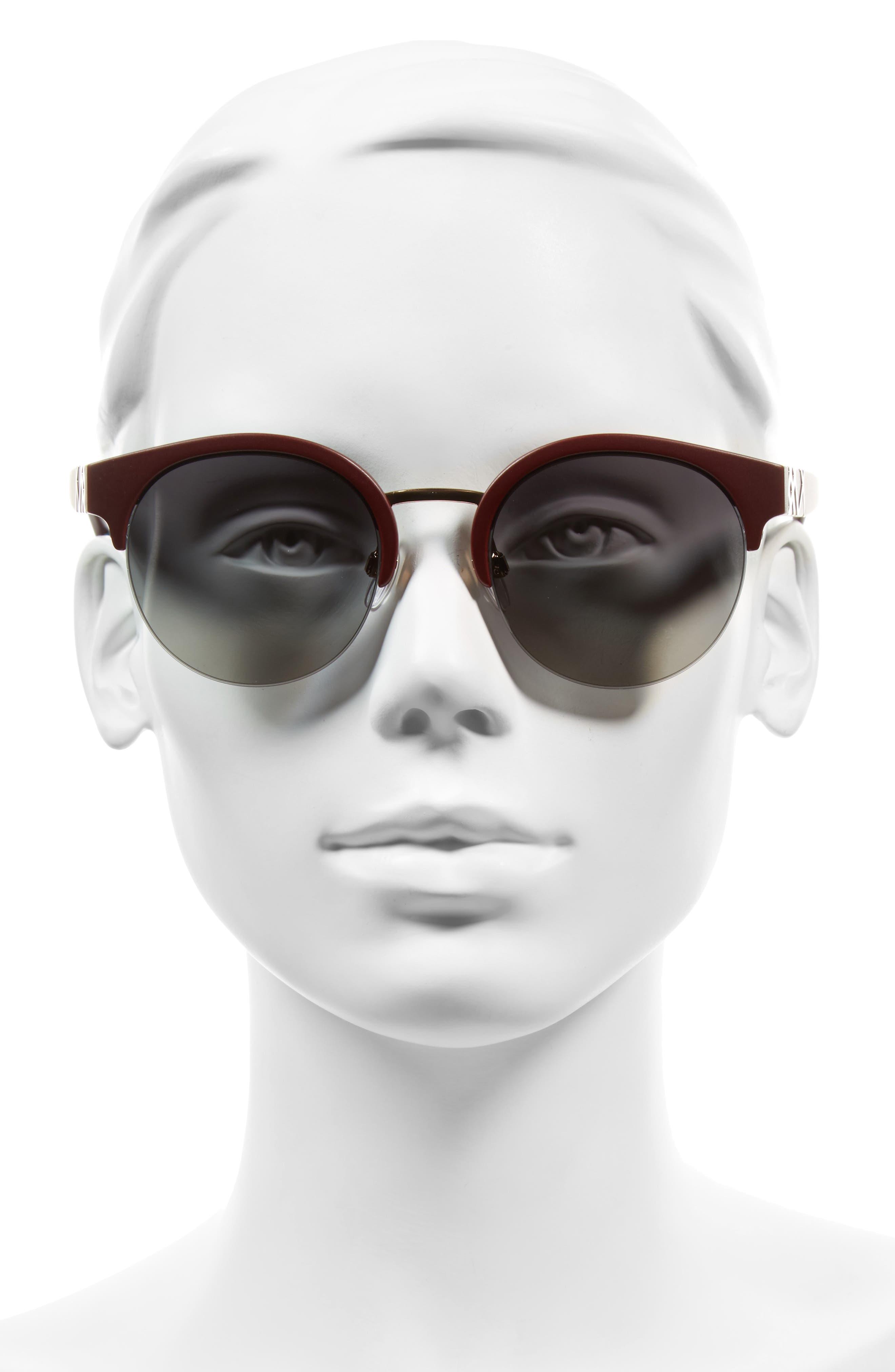52mm Gradient Semi Rimless Sunglasses,                             Alternate thumbnail 6, color,