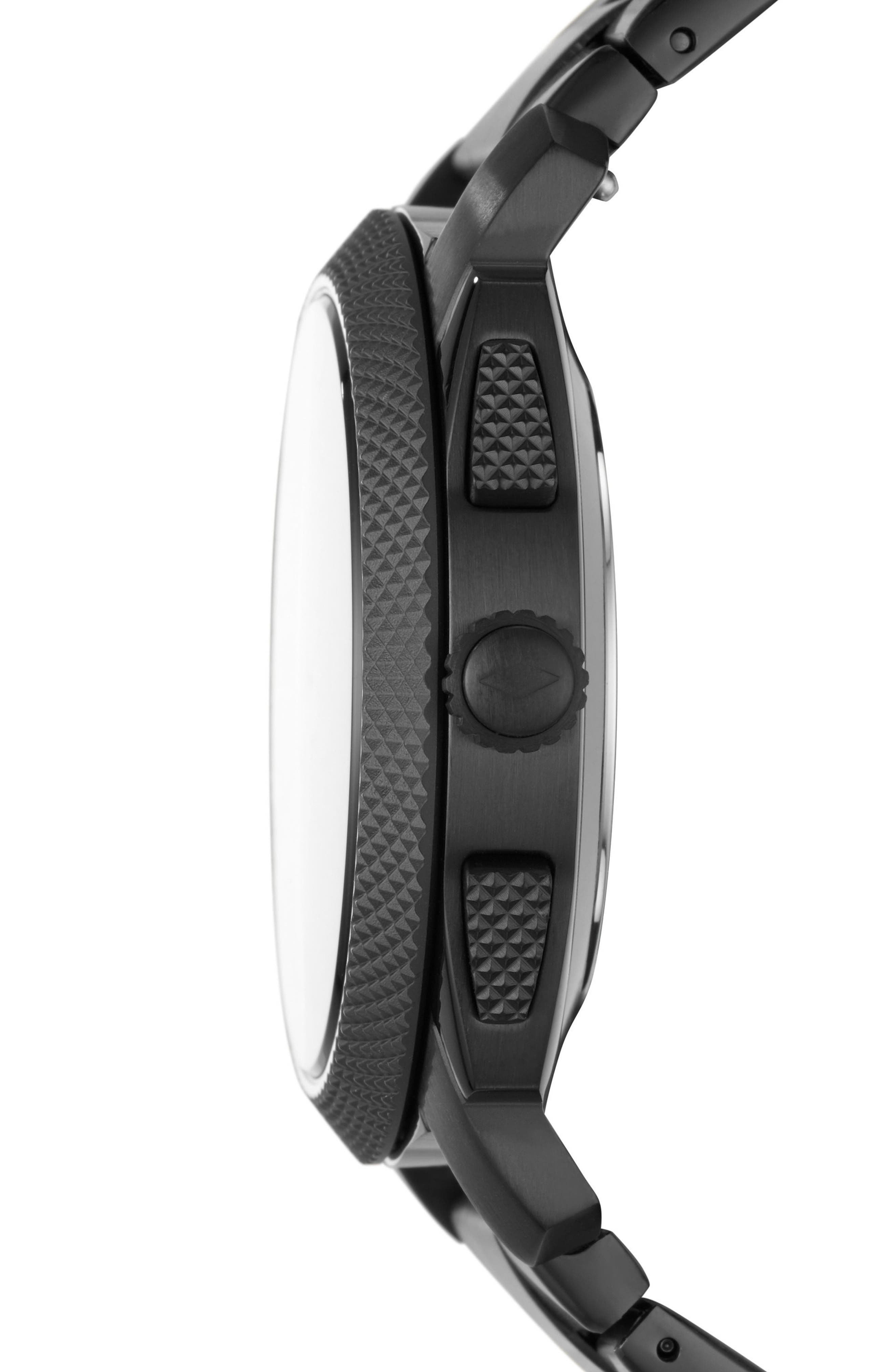 Machine Bracelet Hybrid Smart Watch, 45mm,                             Alternate thumbnail 3, color,                             BLACK