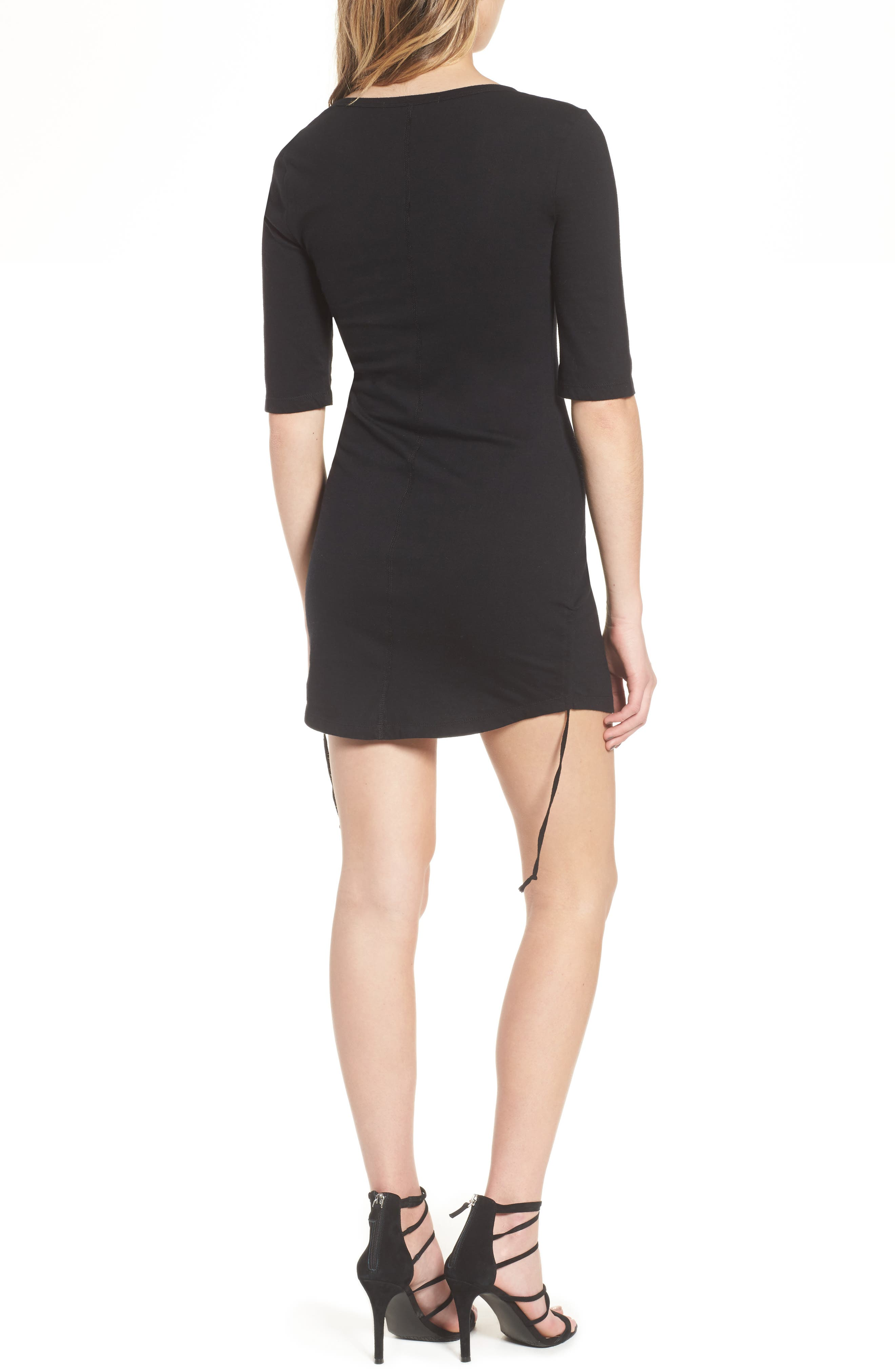 Ruched Body-Con Dress,                             Alternate thumbnail 3, color,
