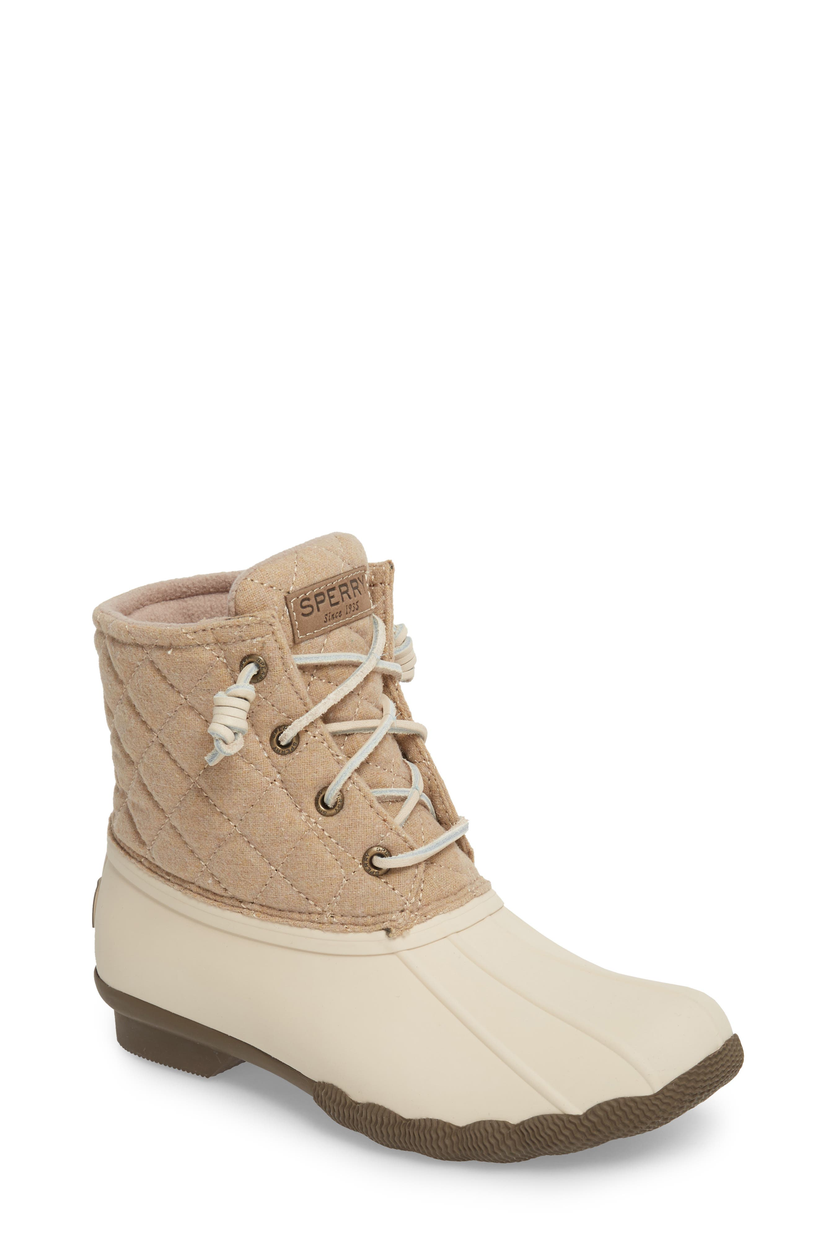 SPERRY,                             Saltwater Waterproof Rain Boot,                             Main thumbnail 1, color,                             OYSTER/ OAT